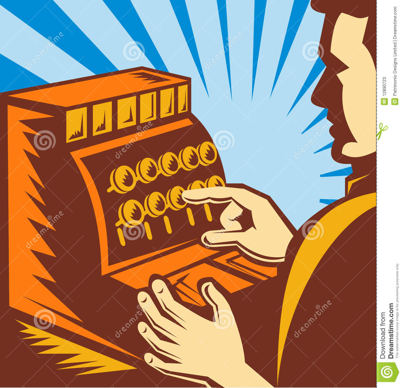 Till Or Cash Register Cartoon Clip Art Stock Vector - Image: 45140106