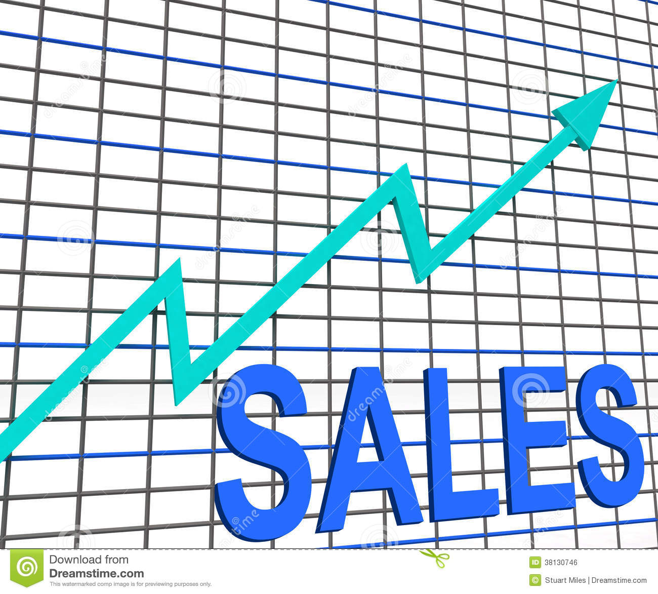 Increasing Sales Graph Stock Photography - Image: 26762782