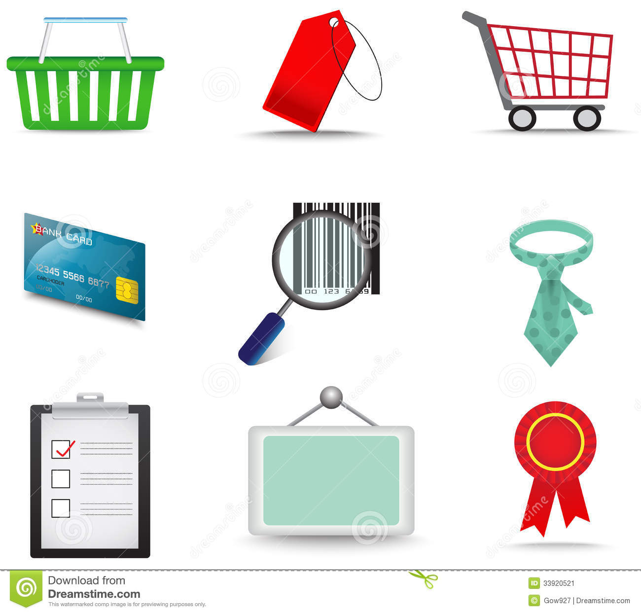 sales and commerce material icon collection set stock image   image