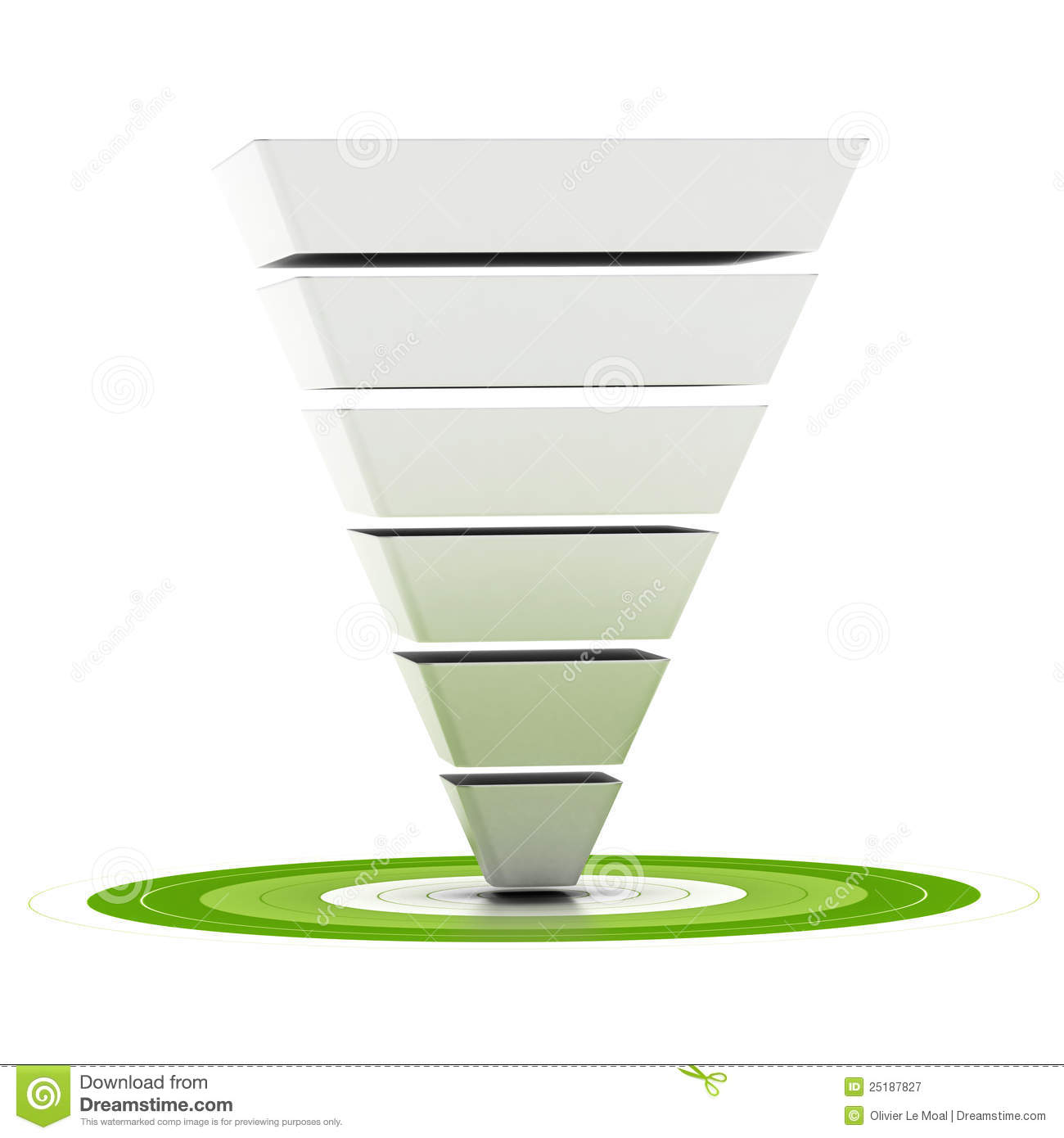 ... , can be used as a marketing funnel, diagram over white background