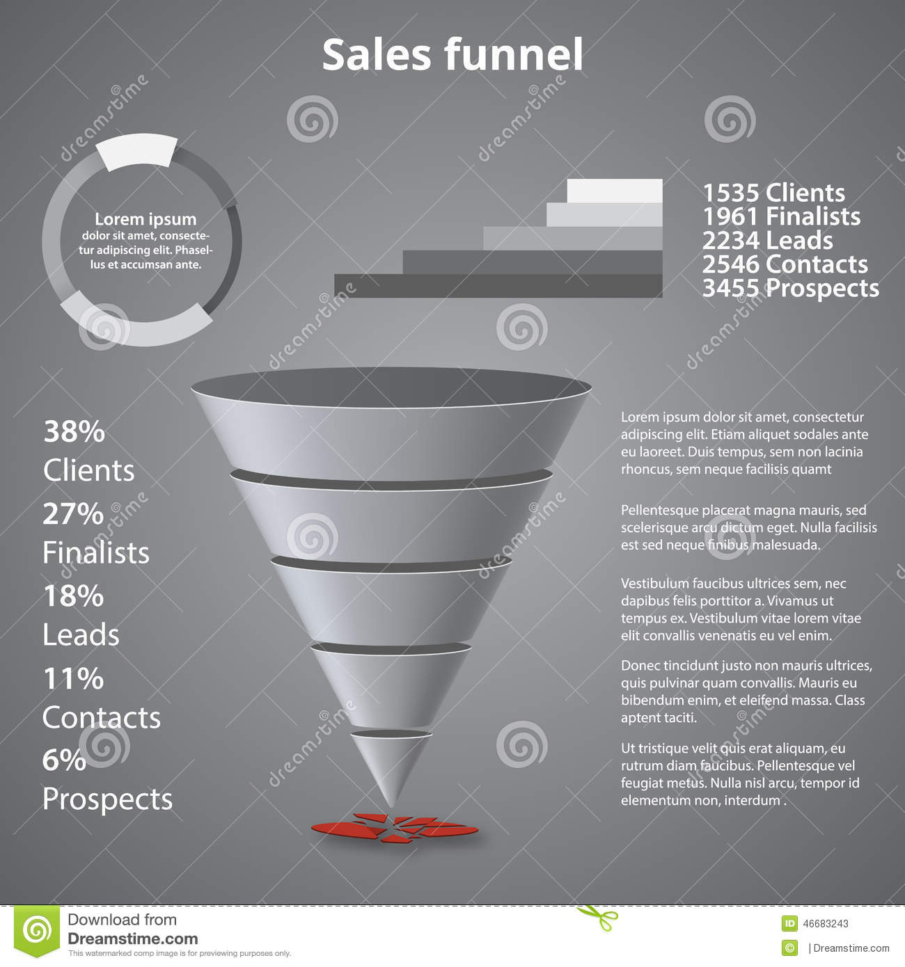 sales funnel template your business stock illustrations 32 sales
