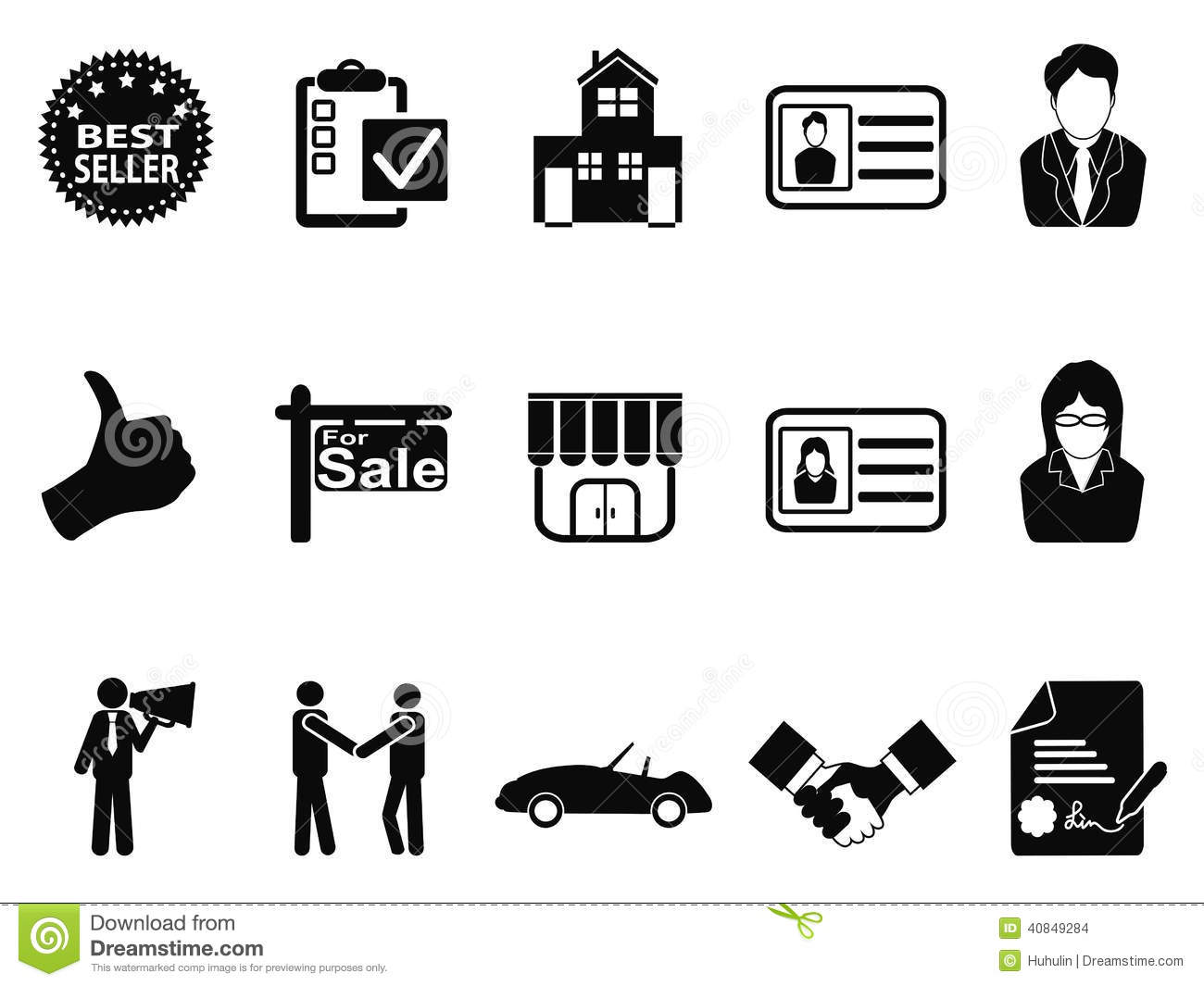 Unlimited Auto Sales >> Sales icon set stock vector. Illustration of megaphone - 40849284