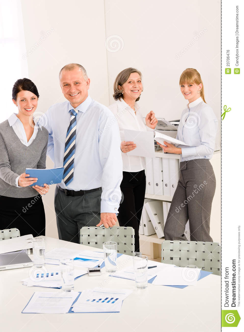 Sales Meeting Business People Review Reports Royalty-Free ...