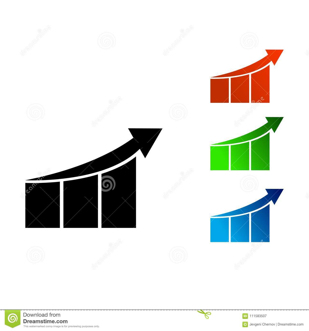 Rising Business Sales Graph Diagram With An Arrow Icon Stock Vector Beam Bridge