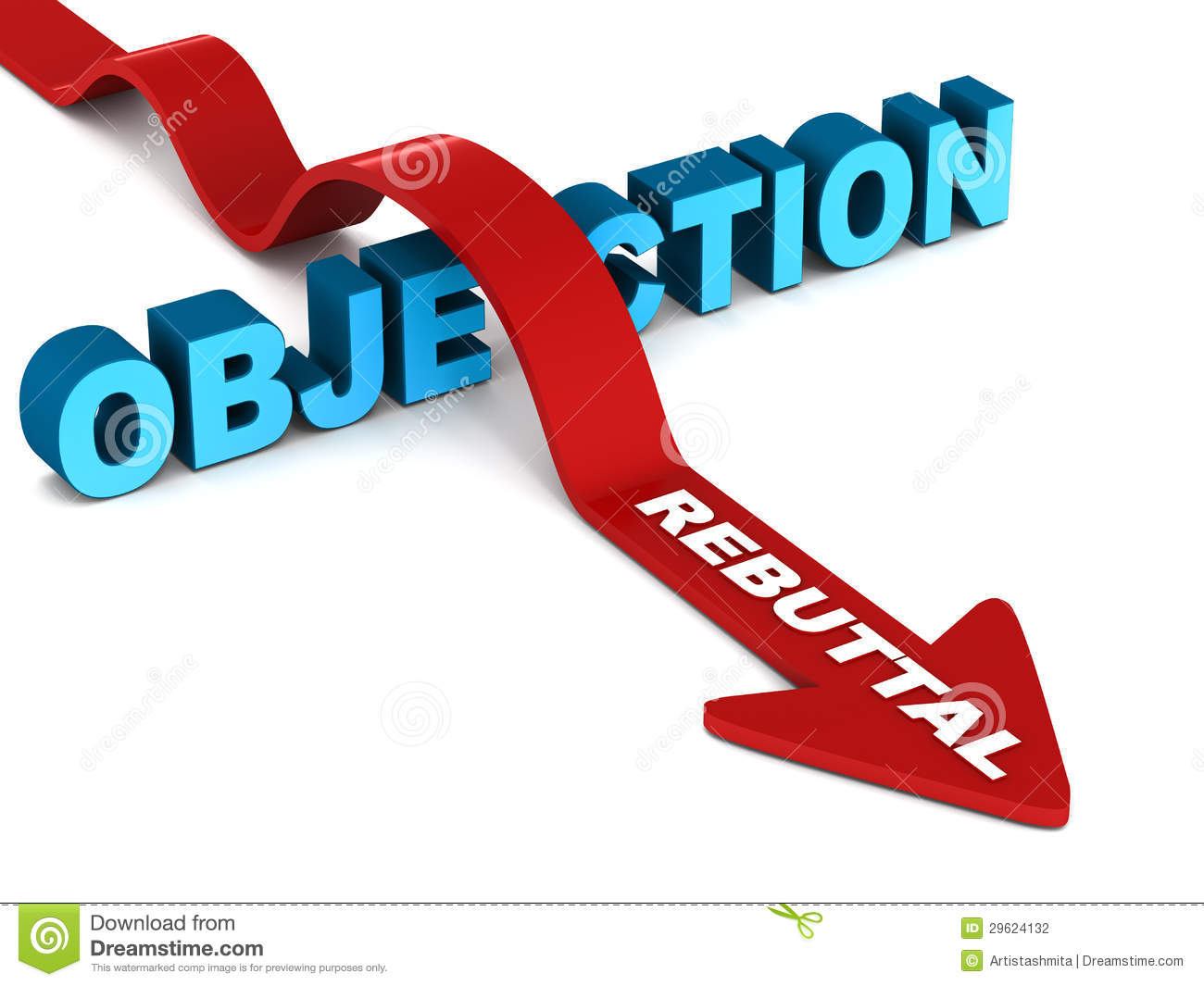 Sales Objection Rebuttal Stock Photography - Image: 29624132