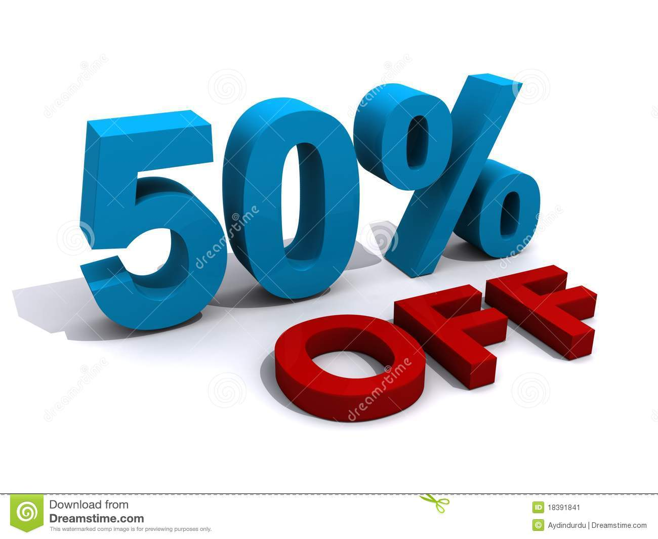 Sales Promotion 50 Off Stock Image Image 18391841