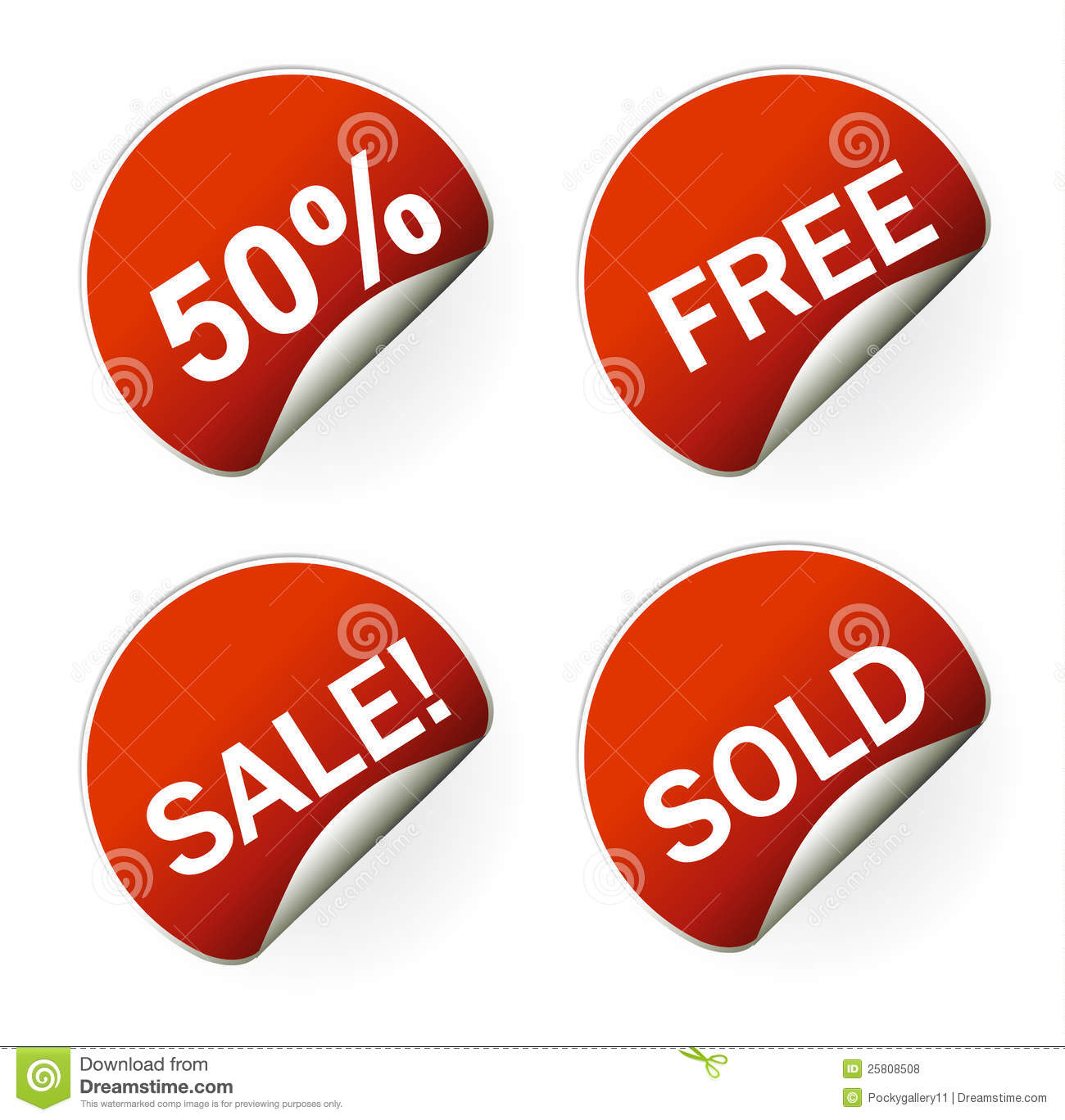 sales sticker tag with discounted percentage royalty free stock