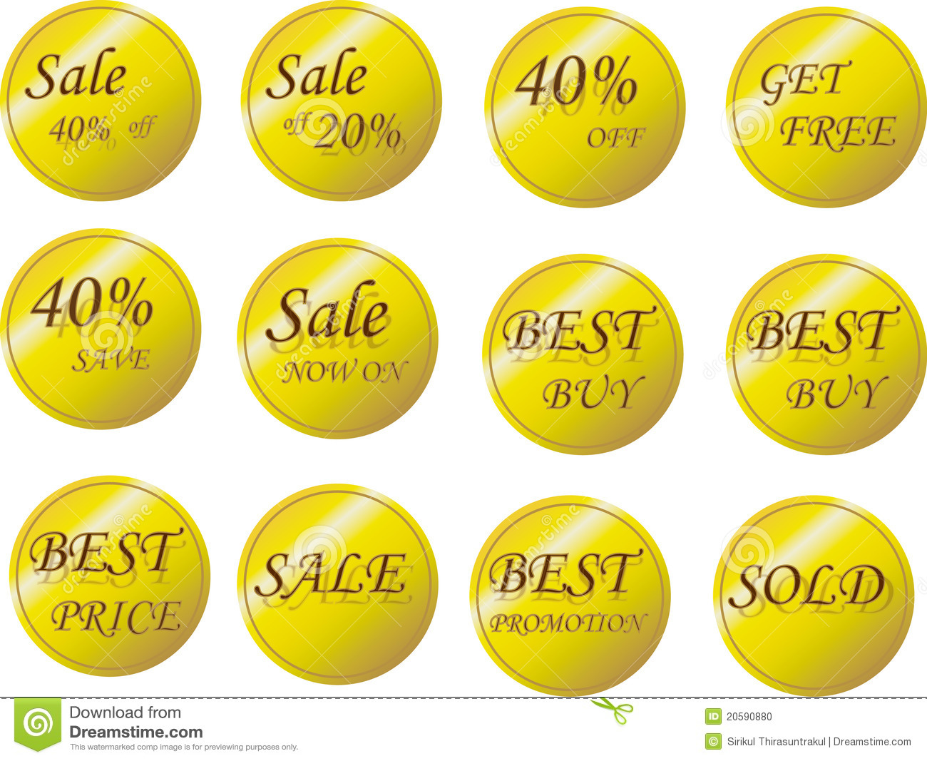 Promotion Tag: Sales Tag Stock Photo