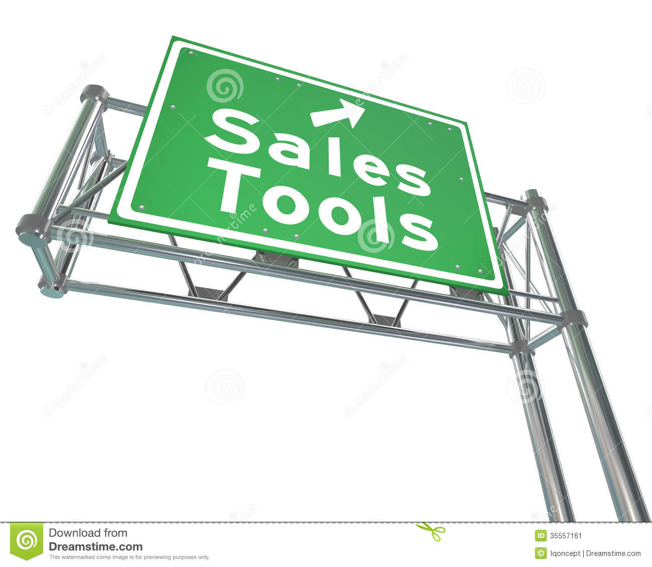 Sales Tools Road Freeway Sign Selling Techniques Stock Image ...