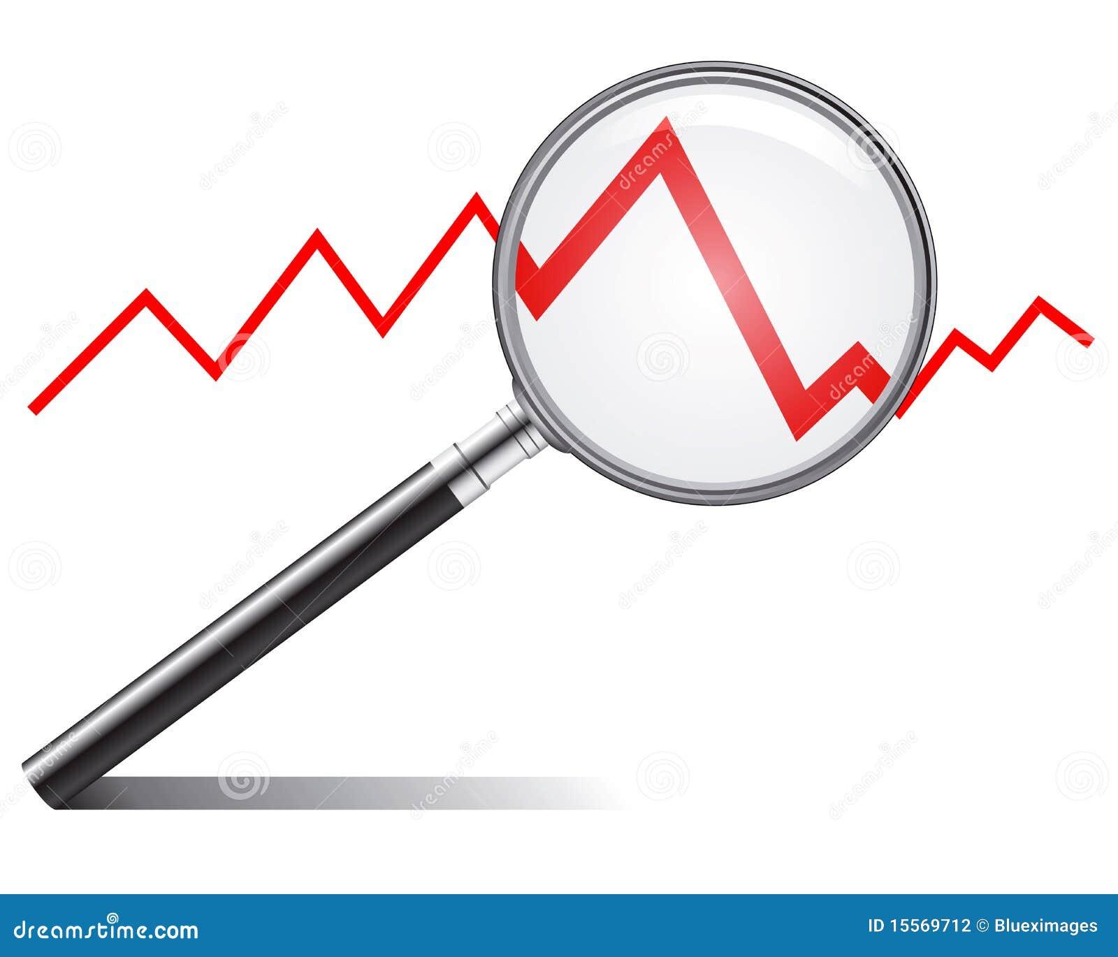Line Art Design Trend : Sales trend stock vector illustration of descending