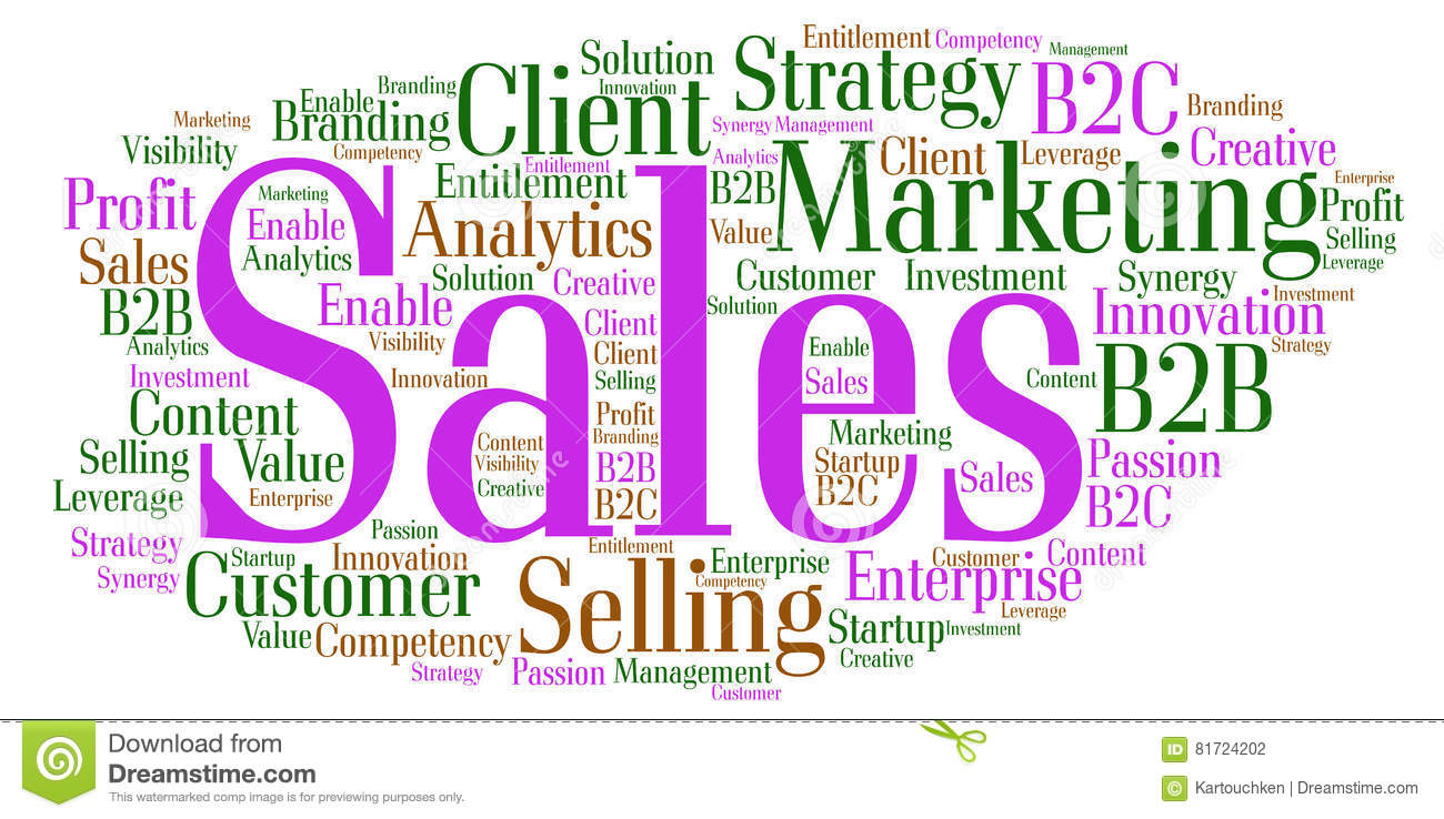 Sales word cloud stock illustration image 81724202 for Sales marketing tactics