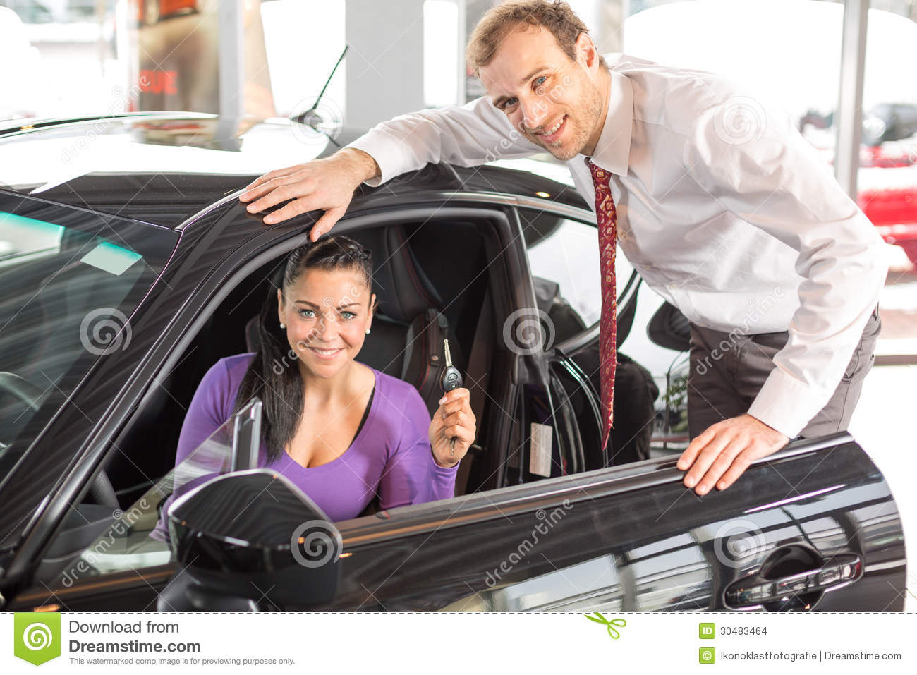 salesman selling a car to happy customer stock images image 30483464. Black Bedroom Furniture Sets. Home Design Ideas