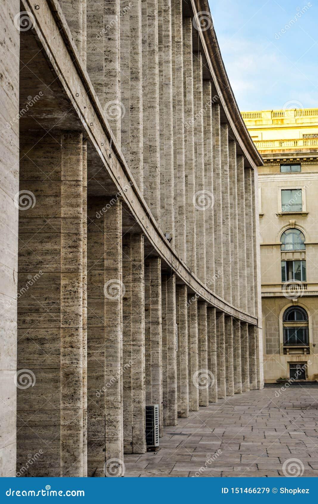 Sali Palatului pałac Hall w Bucharest, Rumunia jest filharmonią i centrum konferencyjnym Komunistyczna brutalist architektura