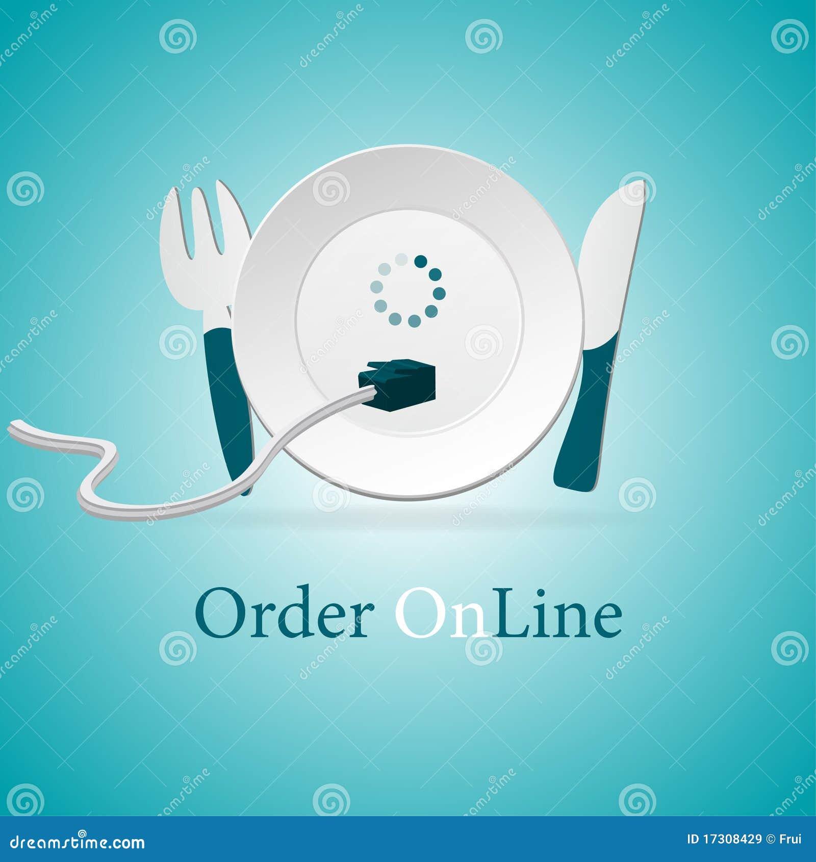 Salida del alimento de la orden en línea