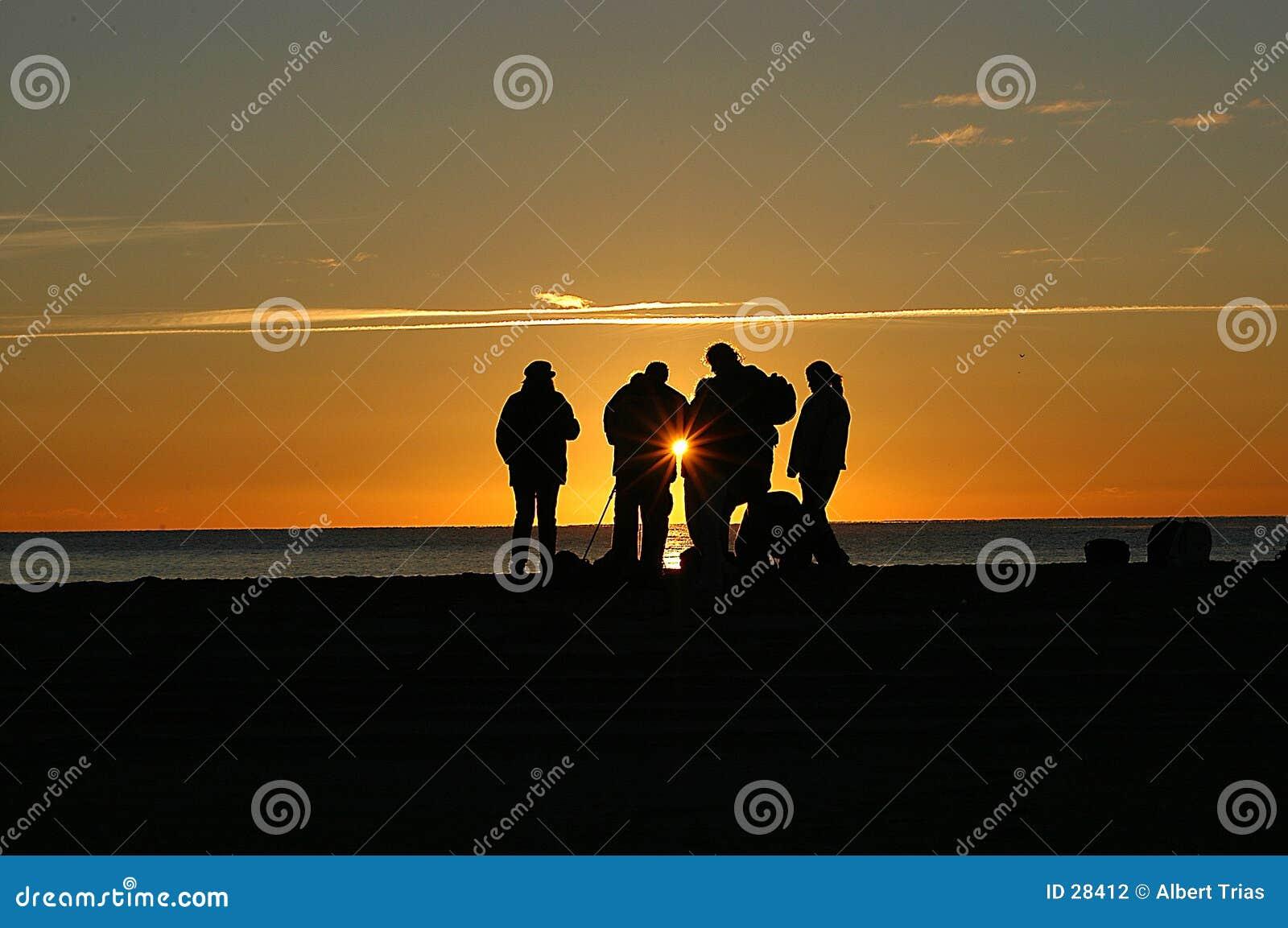 Download Salida del sol foto de archivo. Imagen de lente, playa, sunset - 28412