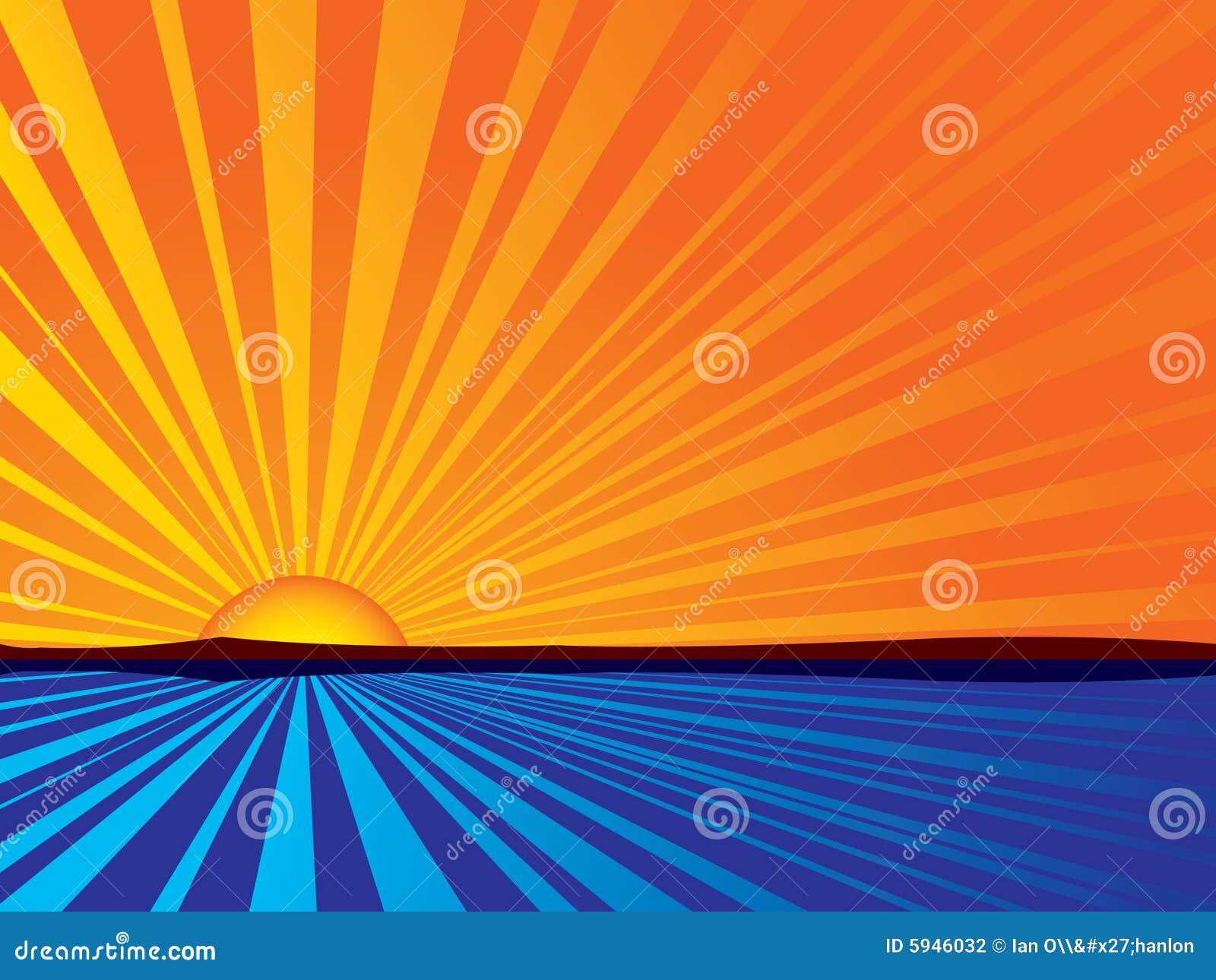 Salida del sol abstracta