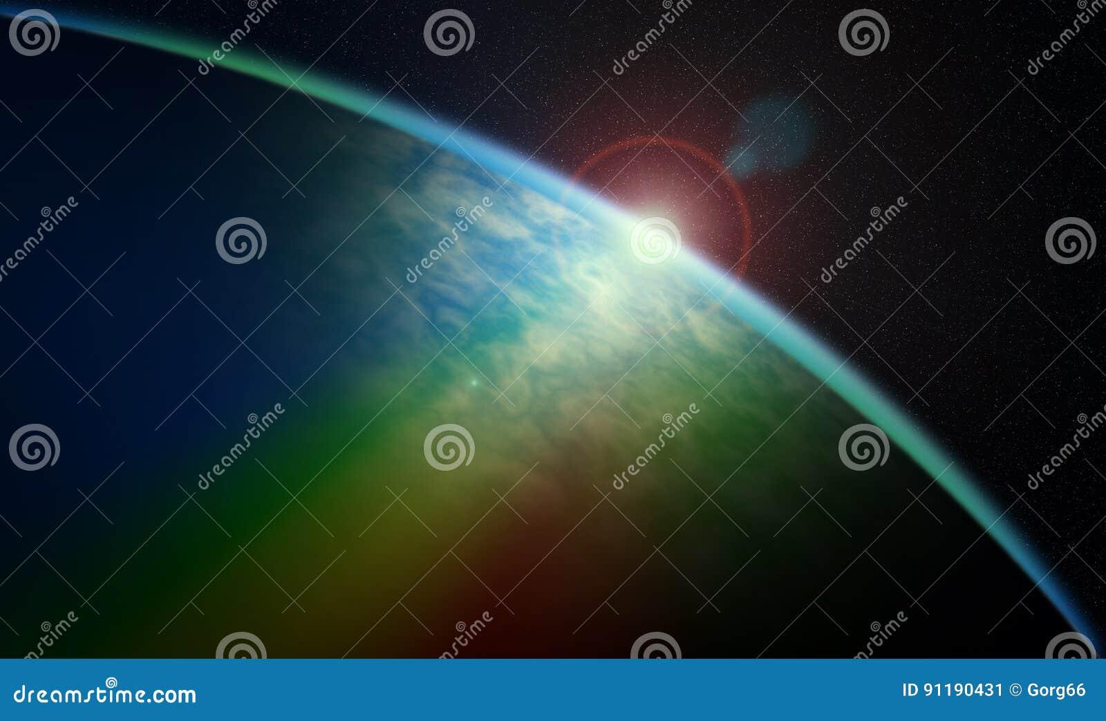 Salida del sol cósmica