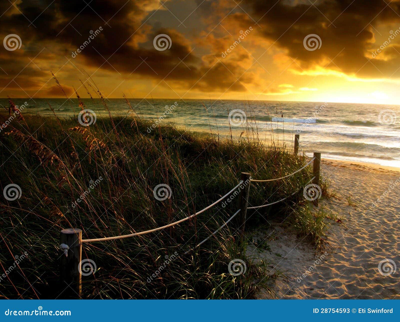 Salida del sol de la playa
