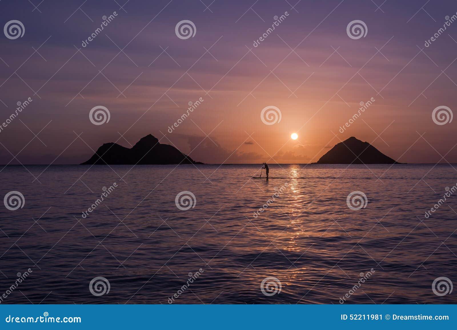 Salida del sol de Oahu