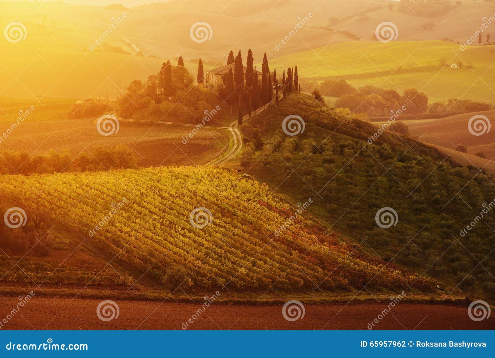 Salida del sol en Italia