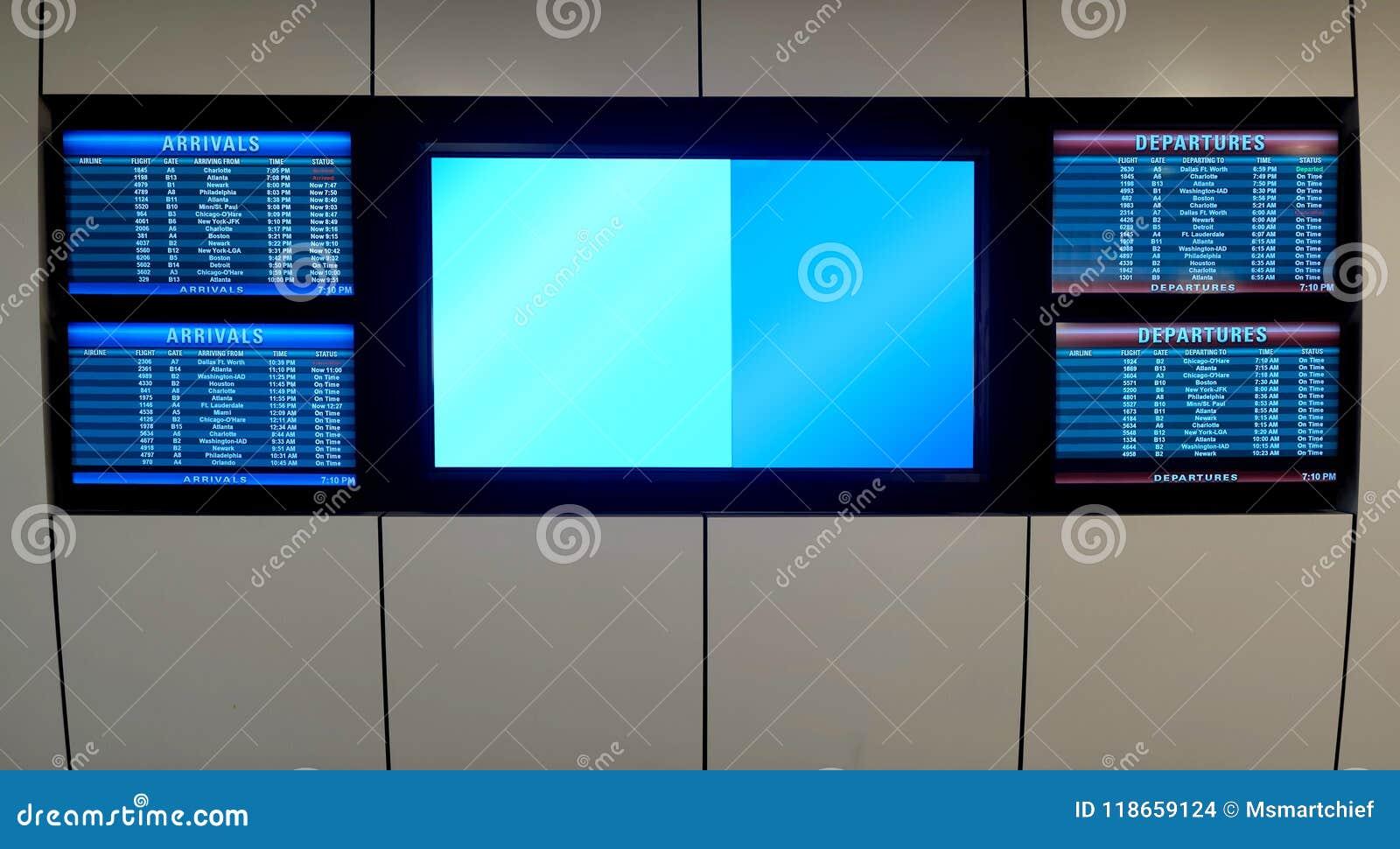 Salidas Y Llegadas Del Terminal De Aeropuerto Foto De