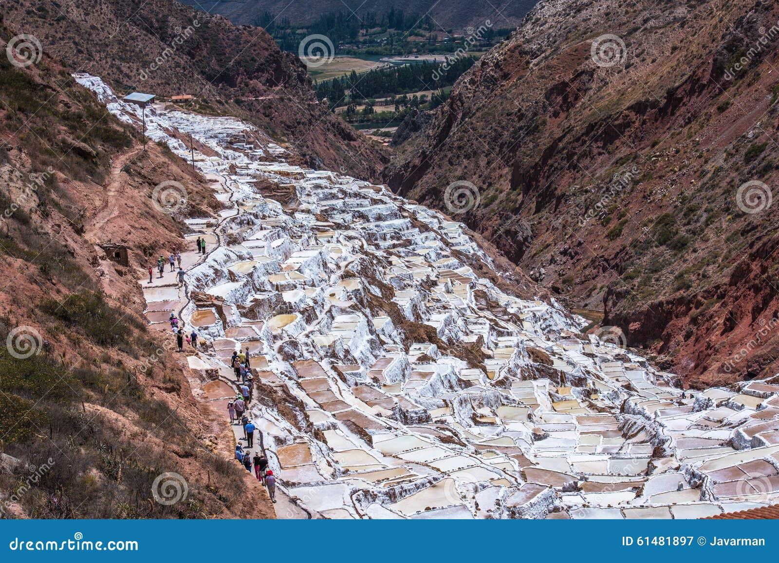 Salinas de Maras, mines de sel synthétiques près de Cusco, Pérou