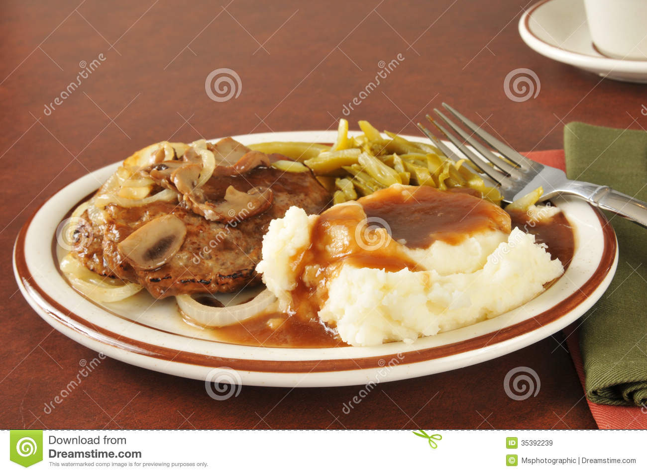 Salisbury Steak With Mashed Potatoes And Gravy Royalty