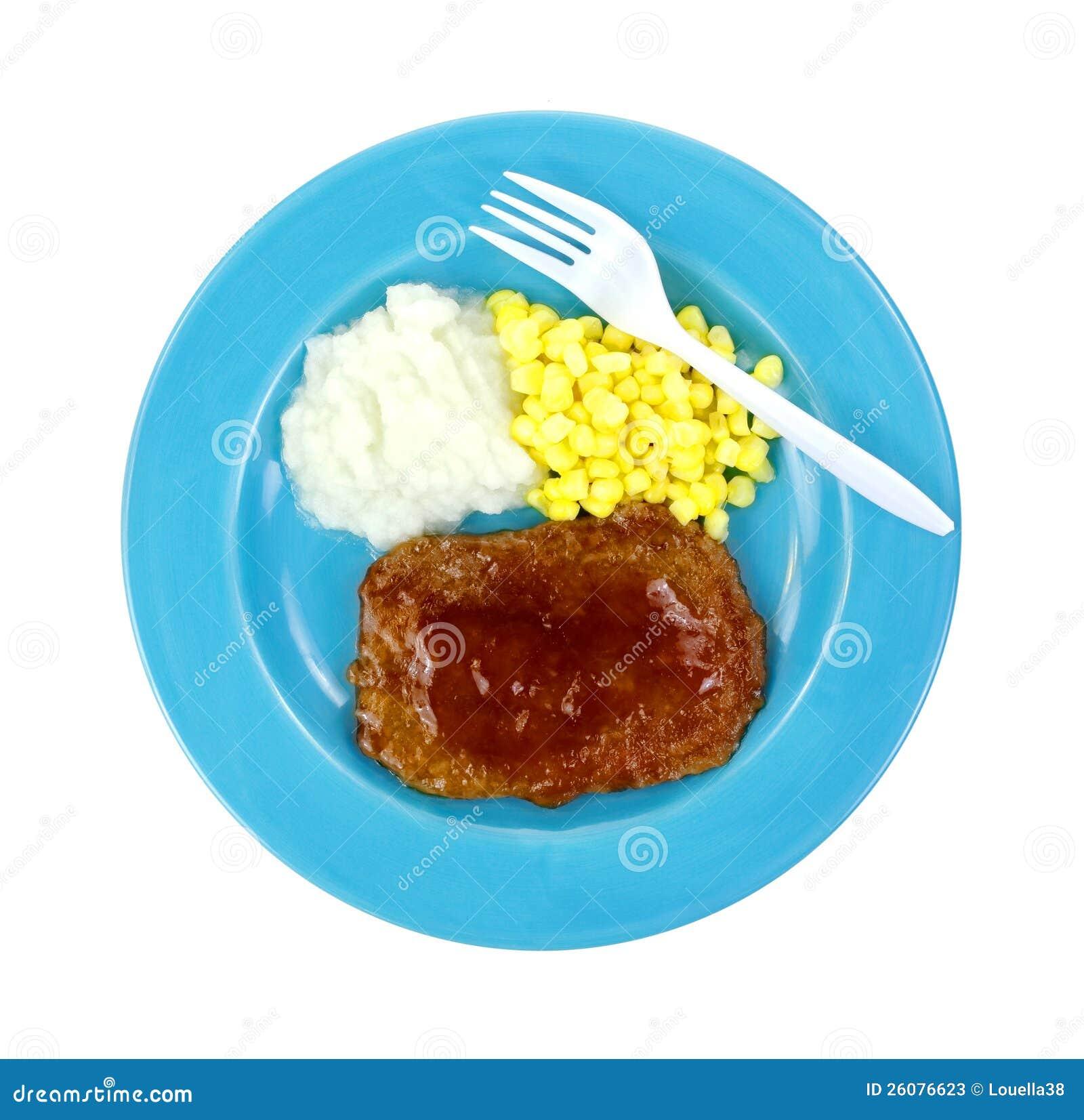 Salisbuy Steak-Mittagessen-Platten-Gabel