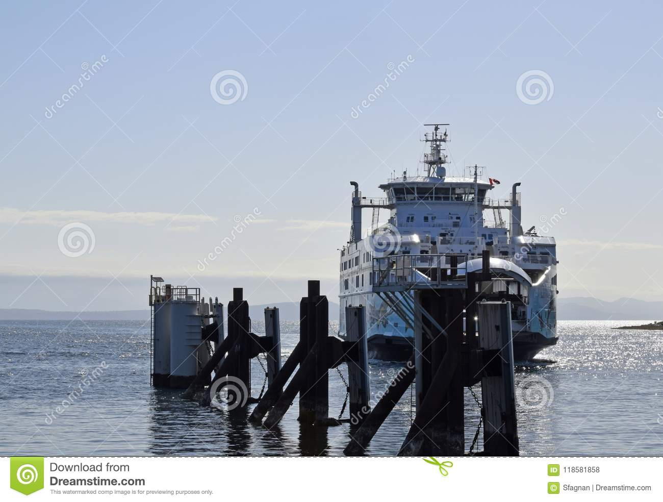 Salish Orca Ferry, Comox Vancouver Island Editorial Stock