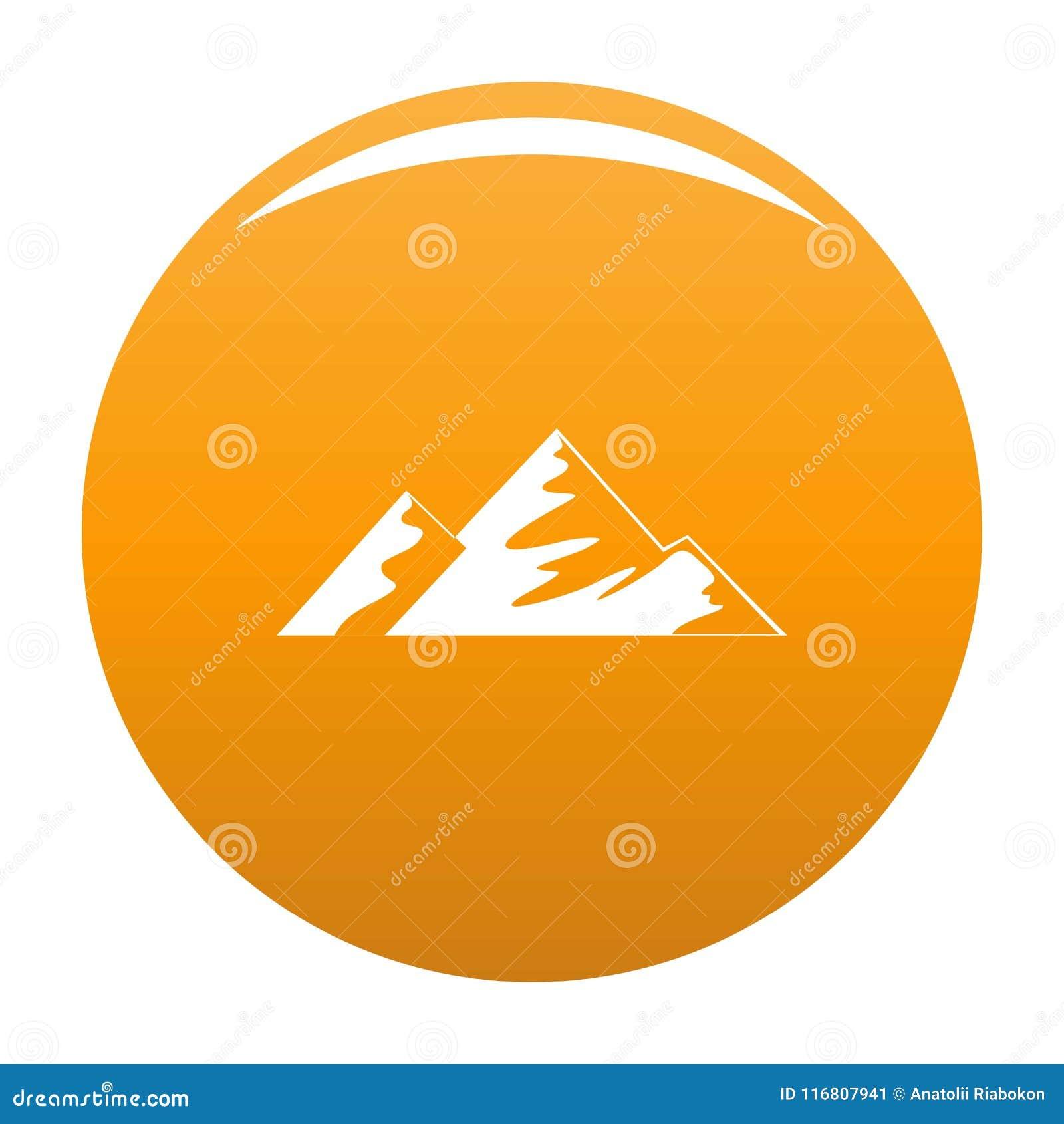 Salita sull arancia di vettore dell icona della montagna