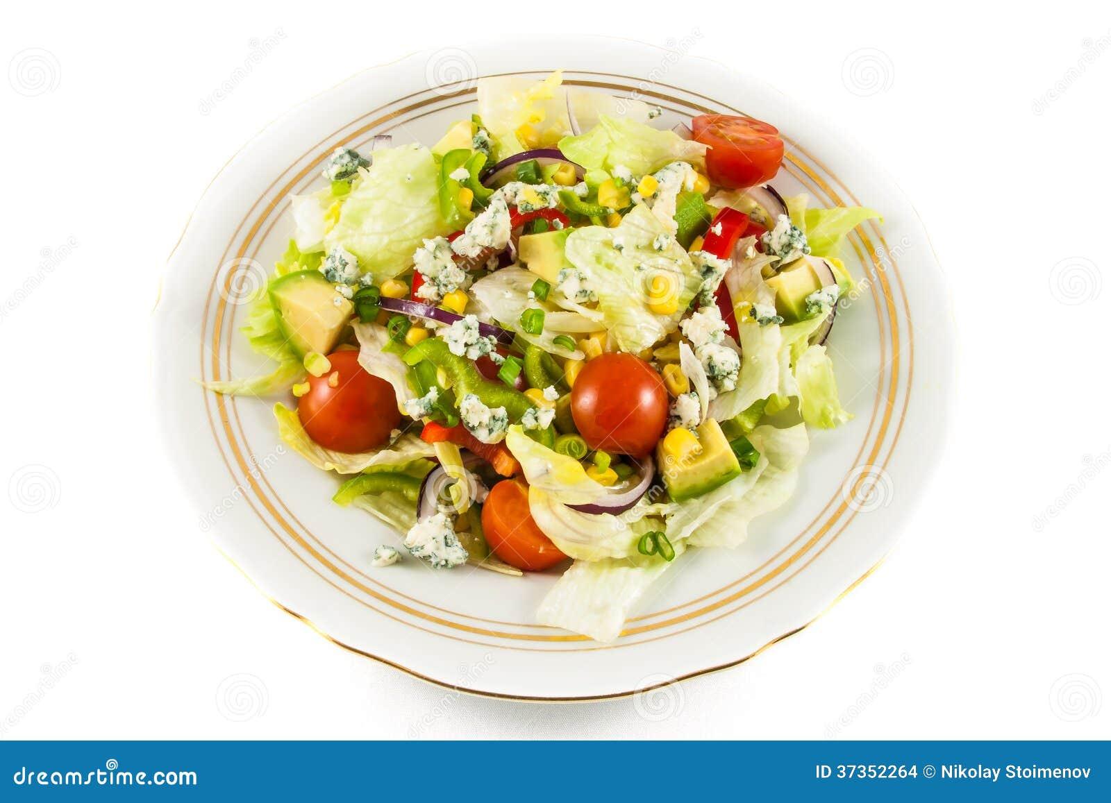 Sallad för körsbärsröda tomater och för isberggrönsallat
