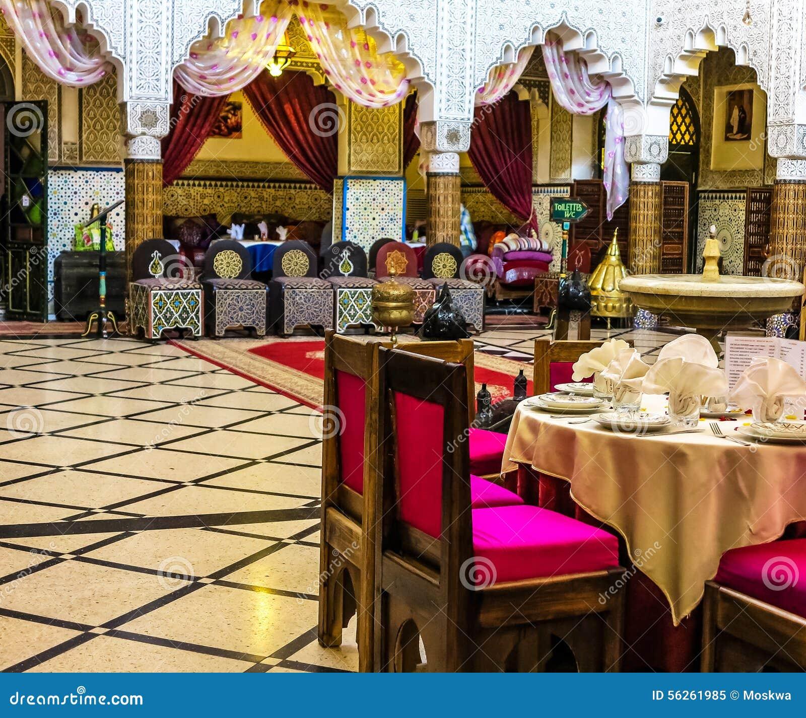 Salle à Manger Dans Un Palais Marocain Antique à Rabat Image