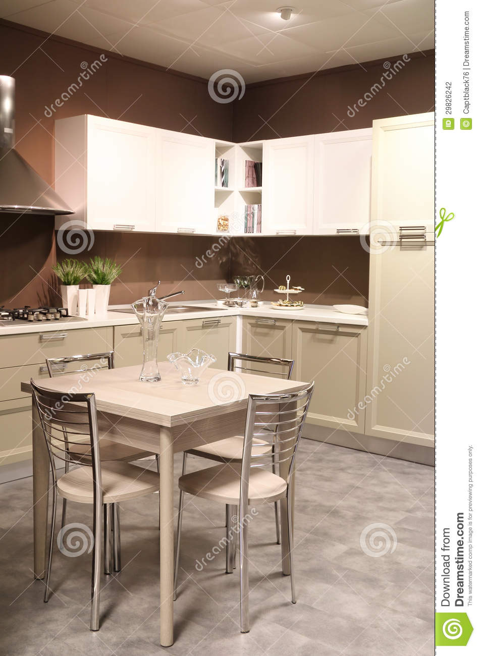 salle manger et cuisine l gantes photographie stock image 29826242. Black Bedroom Furniture Sets. Home Design Ideas