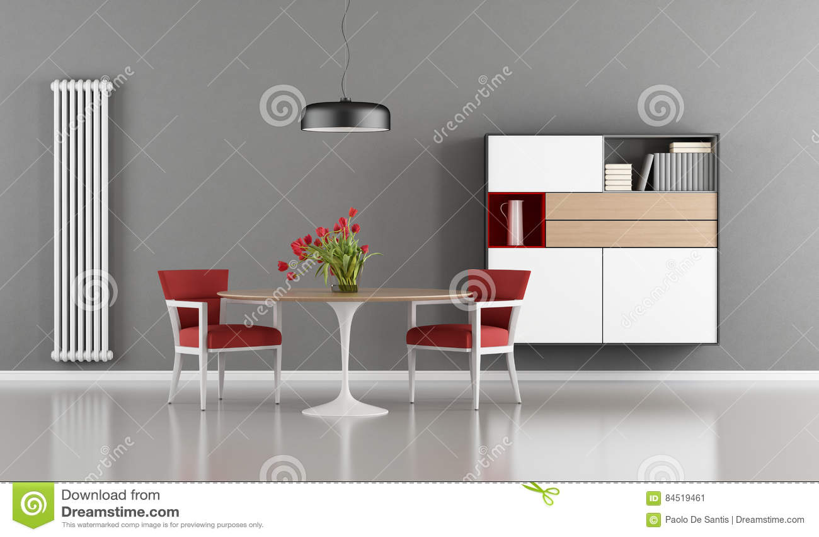 Salle à manger moderne illustration stock. Illustration du ...