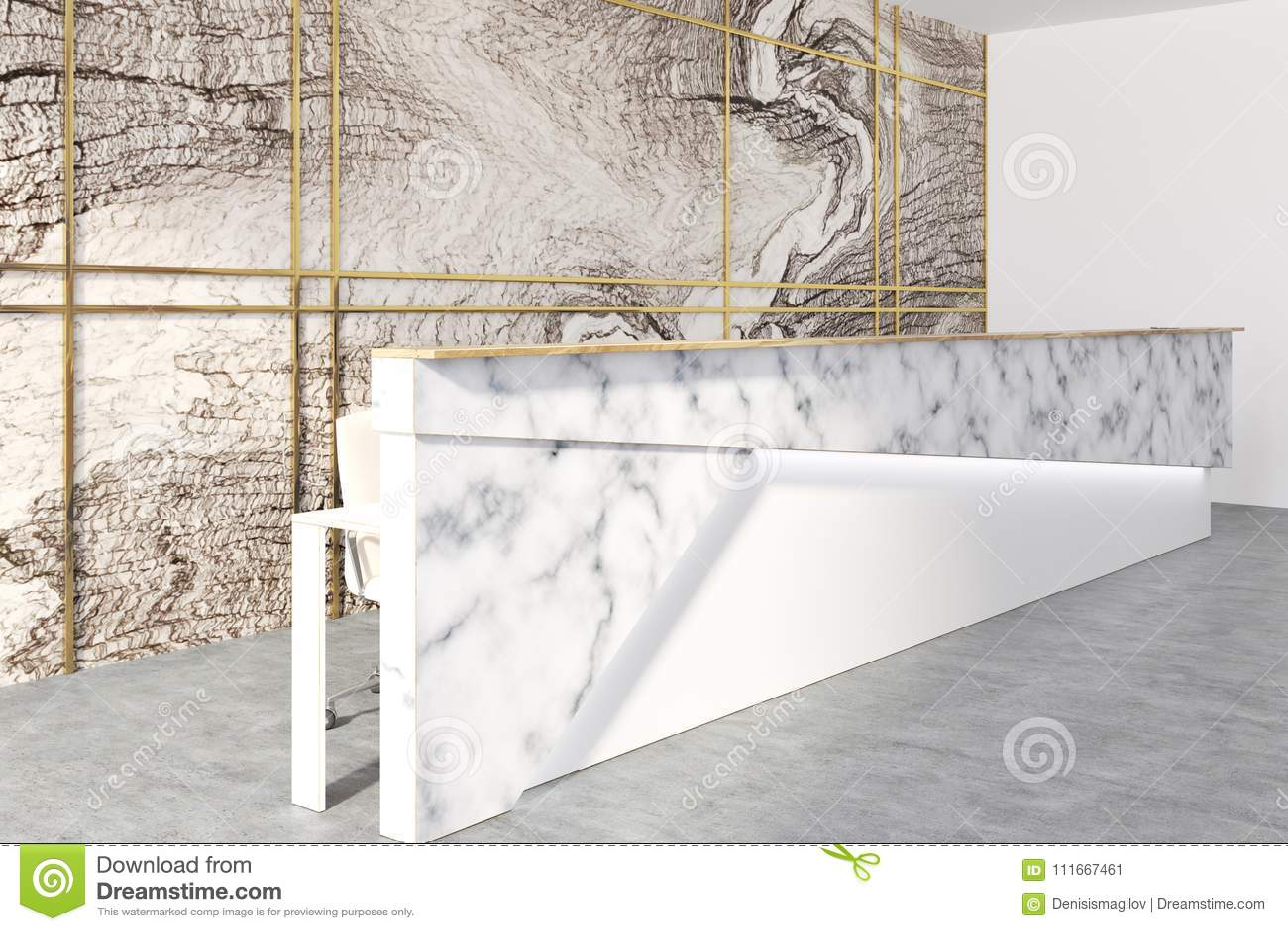Salle d attente de marbre de bureau réception illustration stock
