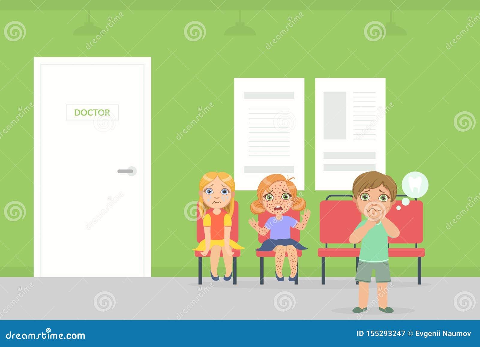Chaises Salle D Attente Cabinet Medical salle d'attente pour des enfants dans l'hôpital, des enfants