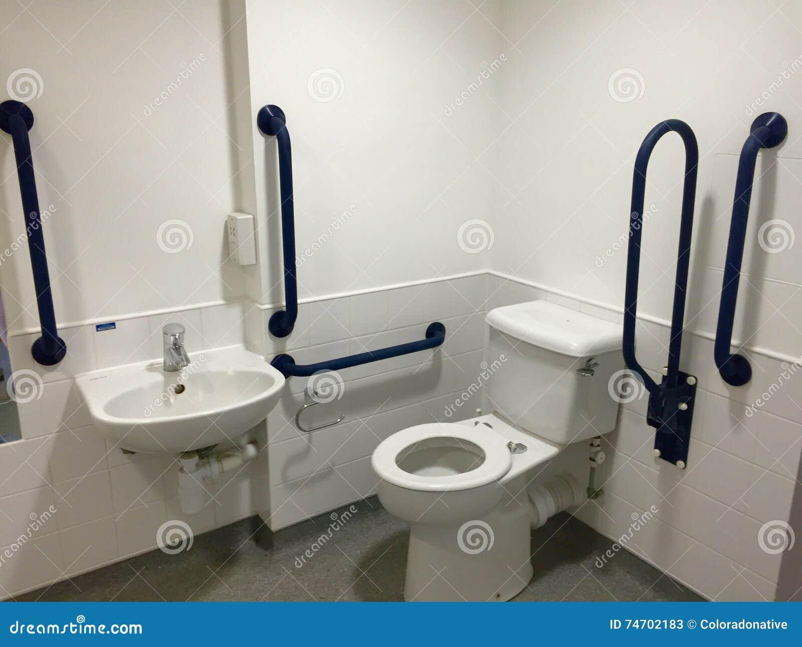 Salle De Bain Jaune Et Grise ~ Salle De Bains Accessible D Handicap Image Stock Image Du Handicap