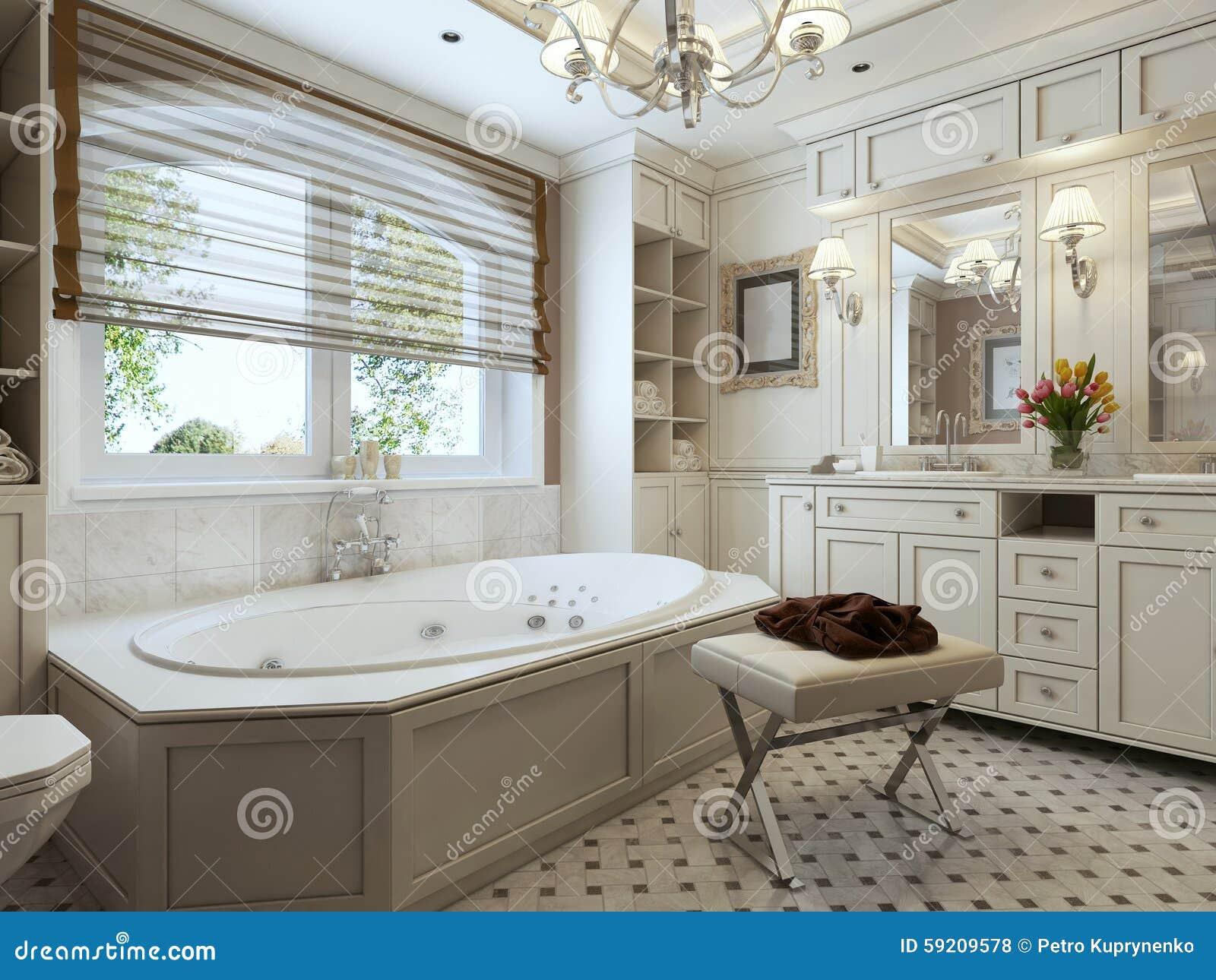 Salle de bains Art Deco photo stock. Image du places - 59209578