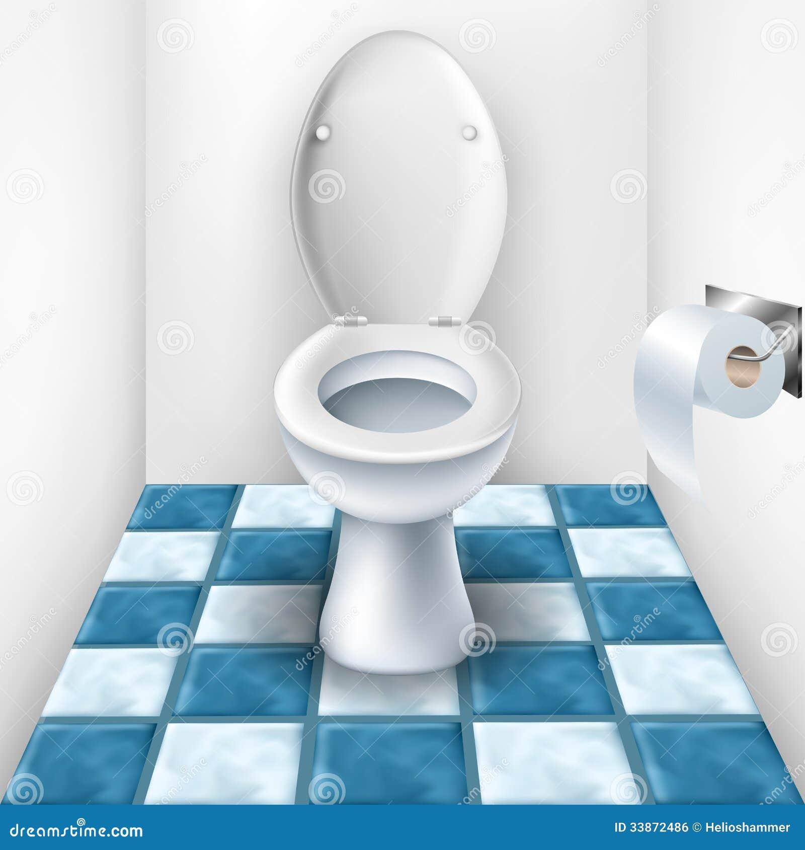 Salle de bains avec le mod le de toilette et de tuile for Modele salle de bain avec toilette
