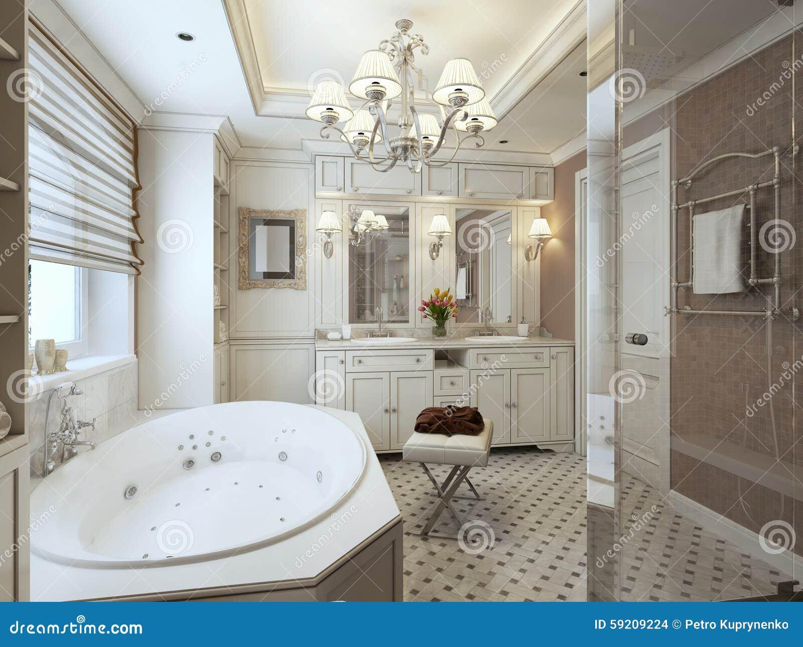 Salle de bains classique photo stock. Image du baignoires - 59209224
