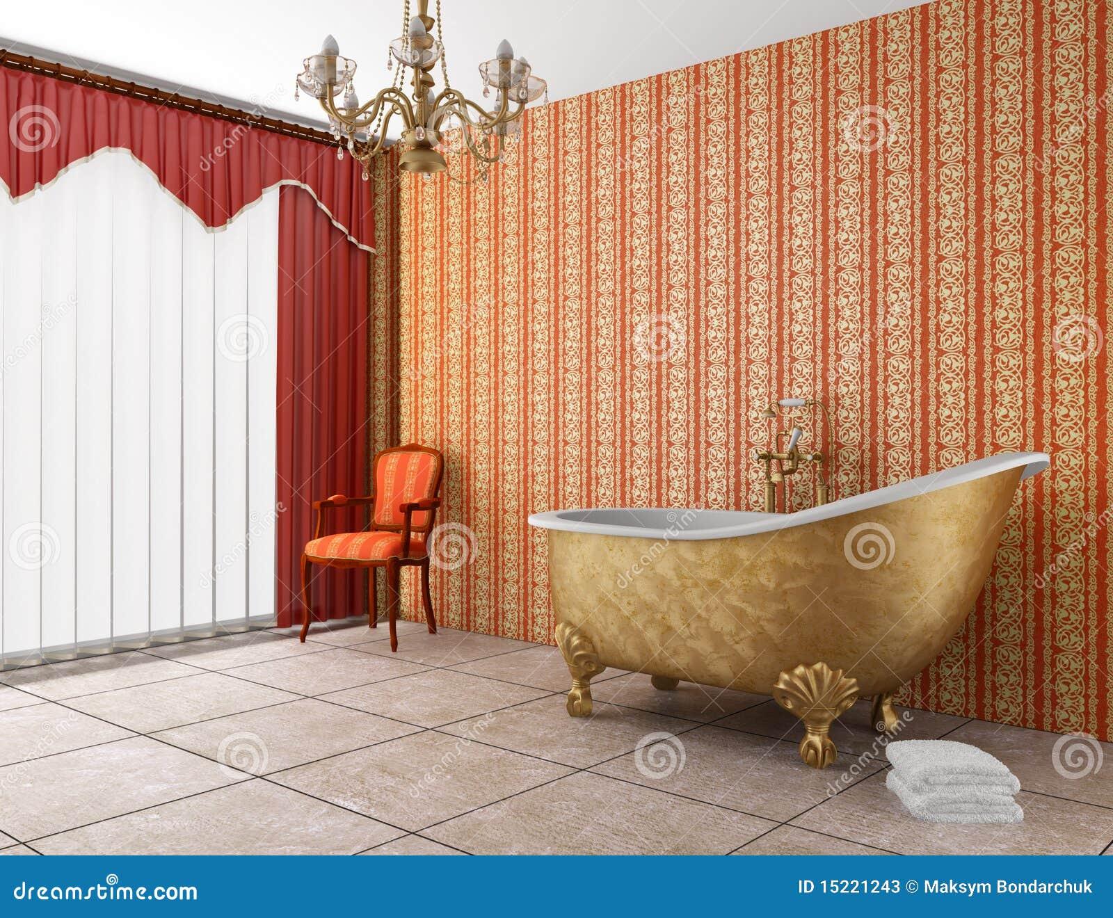 salle de bains classique avec la vieille baignoire photos stock image 15221243. Black Bedroom Furniture Sets. Home Design Ideas