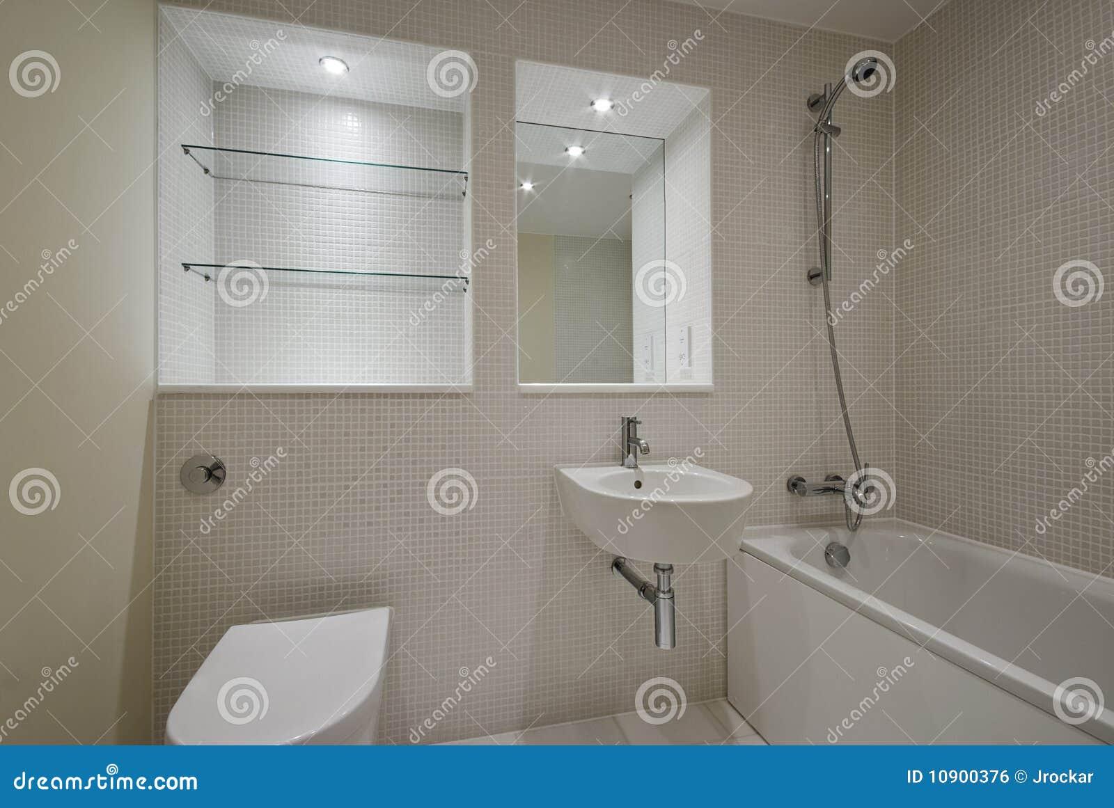 Salle de bains contemporaine avec les tuiles mozaic image for Photo salle de bain contemporaine