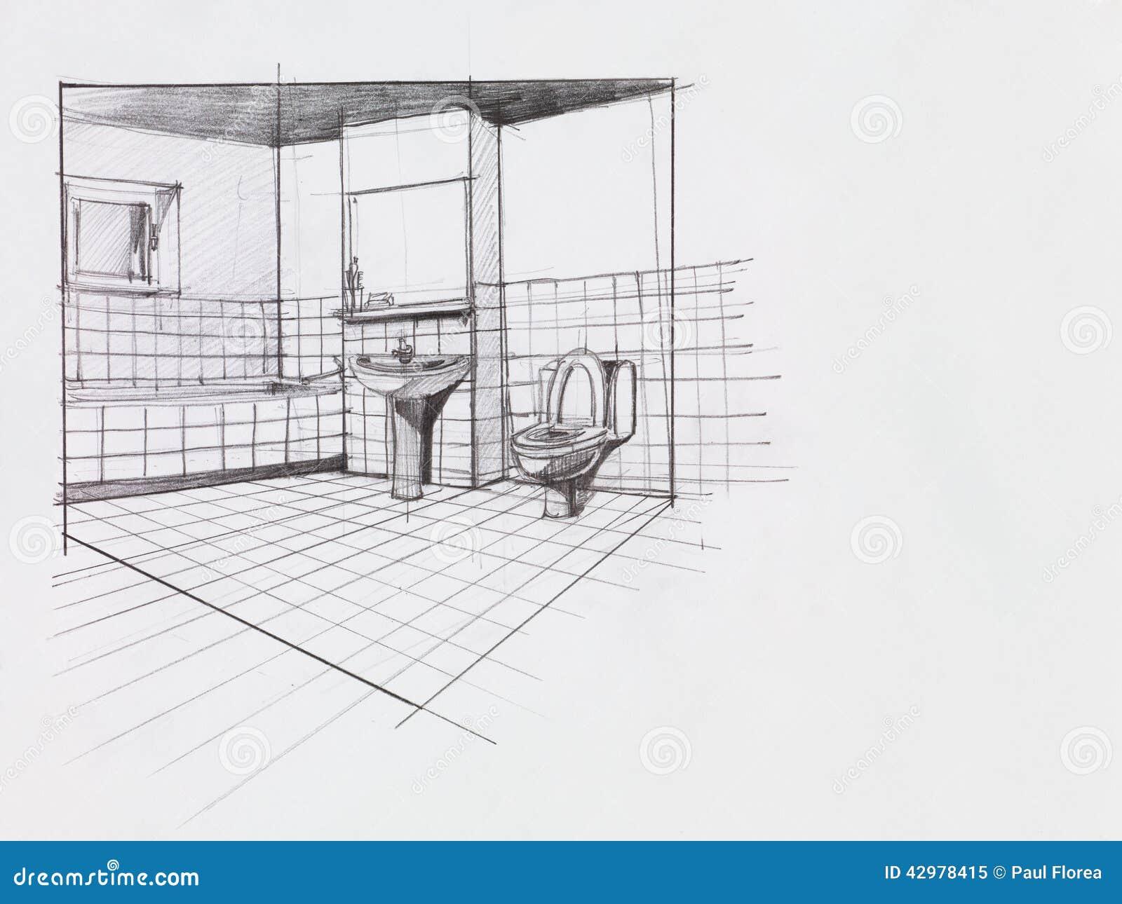 Salle De Bains D 39 Appartement Illustration Stock Image
