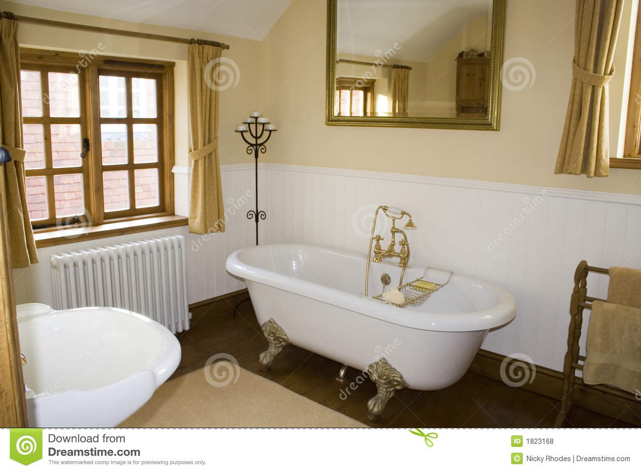 salle de bains de luxe photo stock image du cottage type 1823168. Black Bedroom Furniture Sets. Home Design Ideas