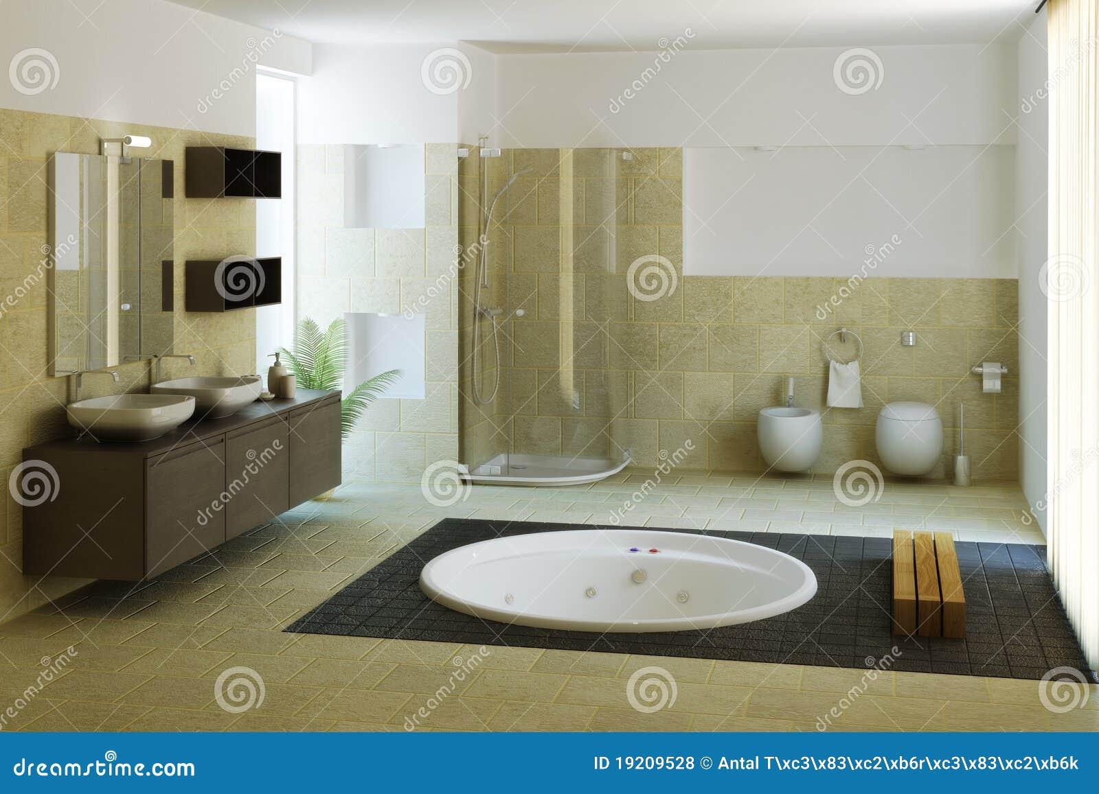 Salle de bains de luxe illustration stock illustration du for Salle bain luxe