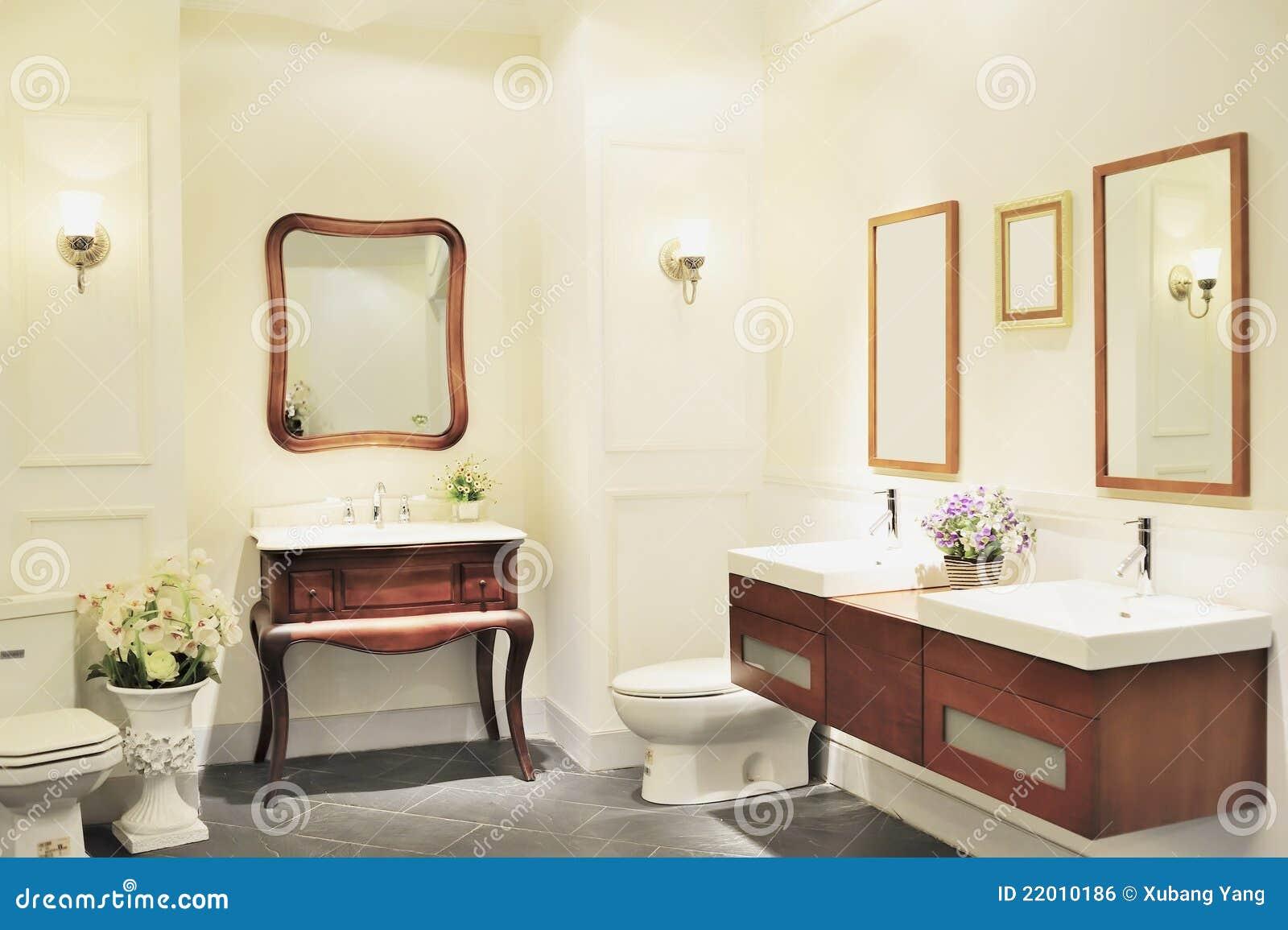 Salle De Bain Fleurie ~ salle de bains de luxe photo stock image du cher inside 22010186