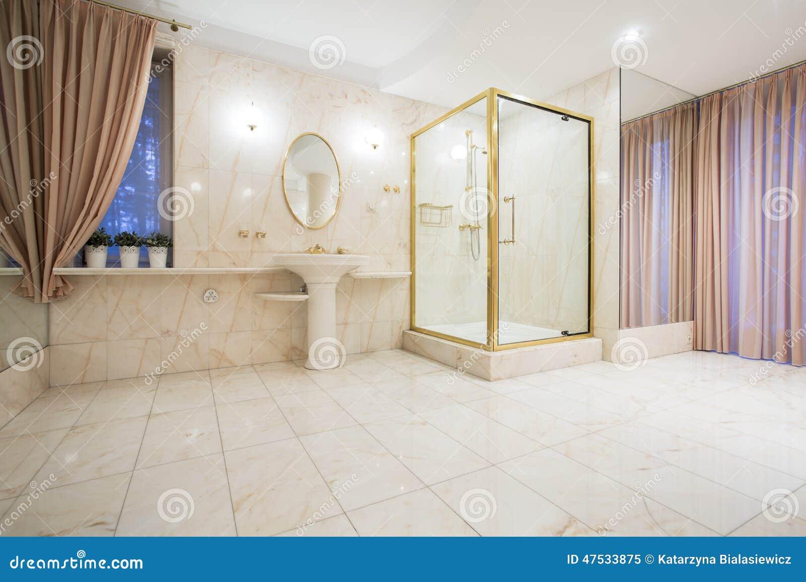 Salle de bains de luxe dans la maison contemporaine photo stock ...