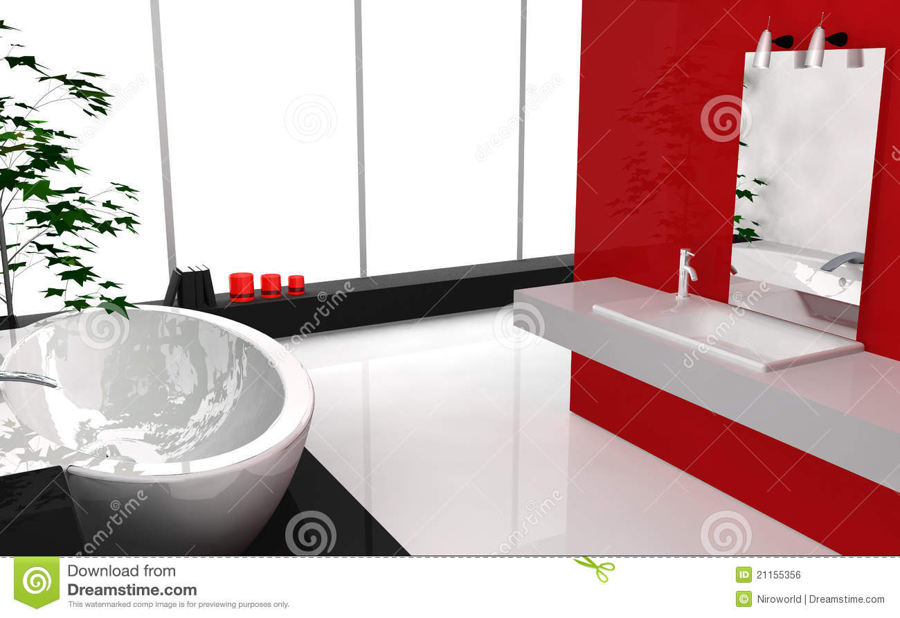 Salle De Bain Contemporaine Luxe : Modern Bathroom Clip Art