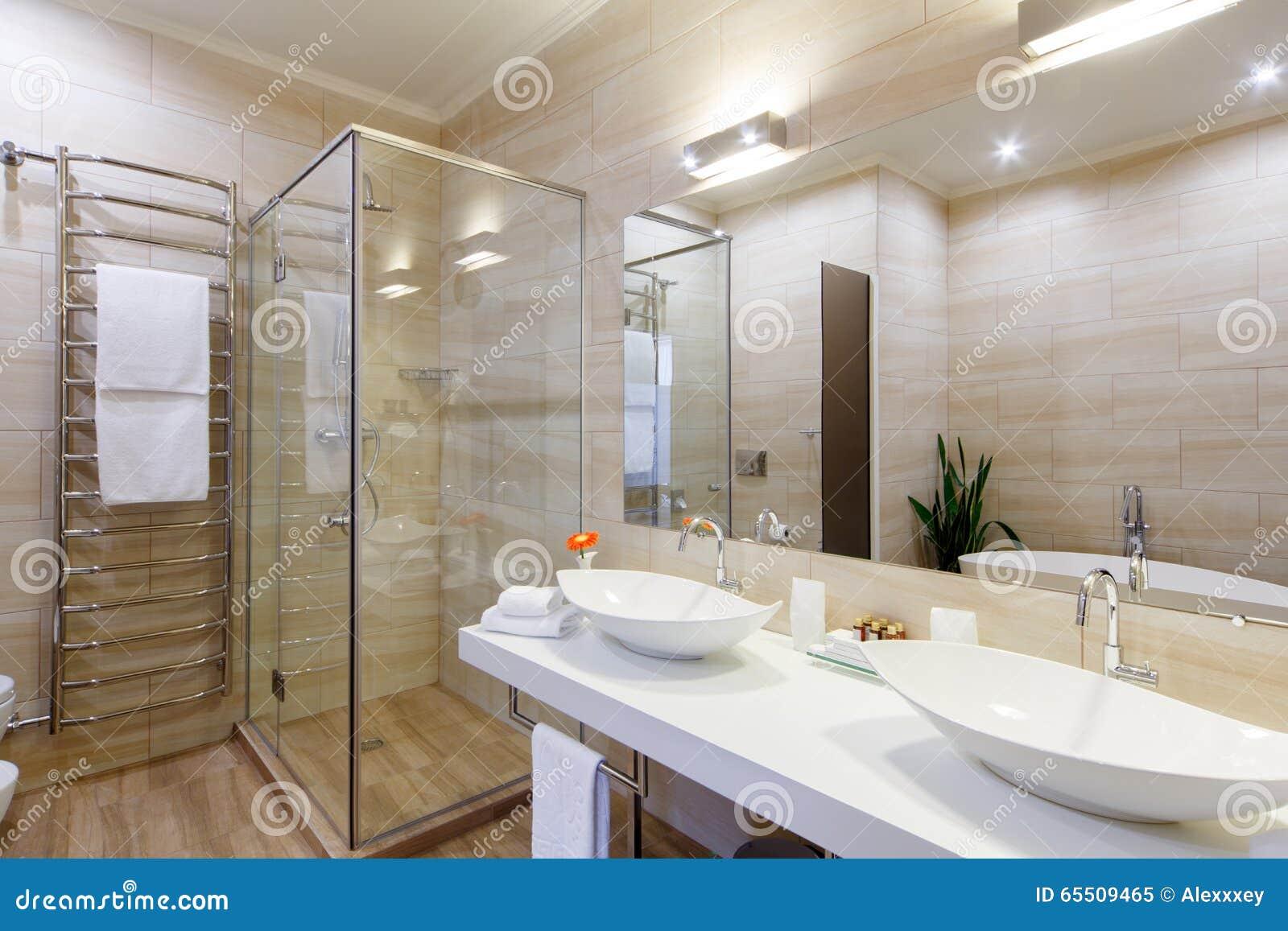 Salle De Bains Des Chambres D H Tel Avec Une Douche Et Quelques
