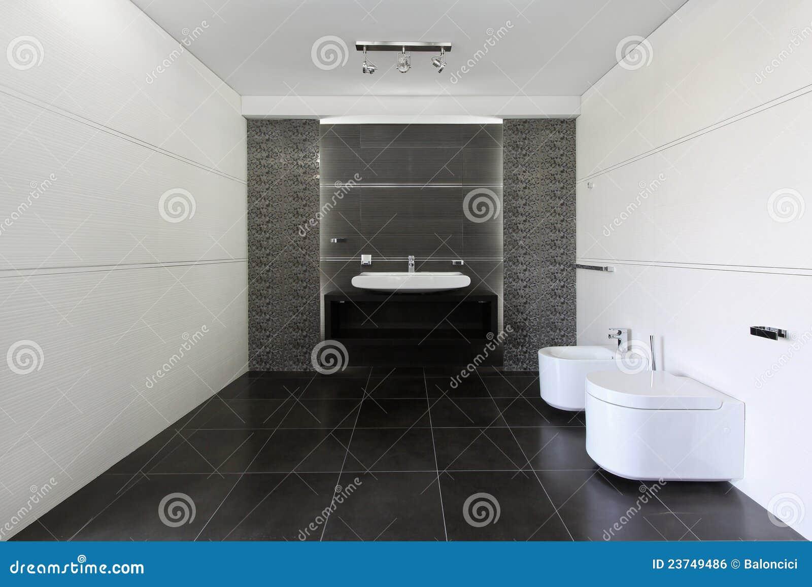 Salle de bains grise image libre de droits image 23749486 - Salle de bain blanche et grise ...